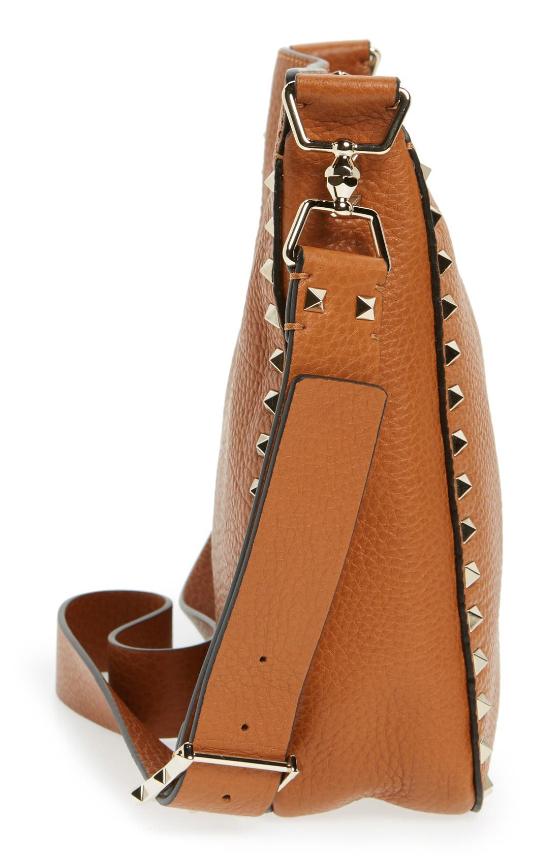 Alternate Image 5  - VALENTINO GARAVANI 'Vitello' Rockstud Hobo