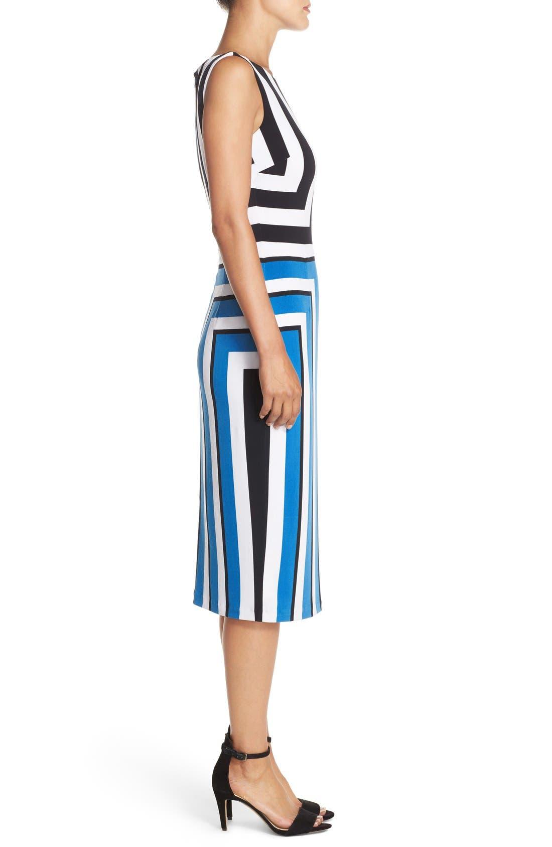 Alternate Image 3  - Maggy London Stripe Jersey Midi Dress