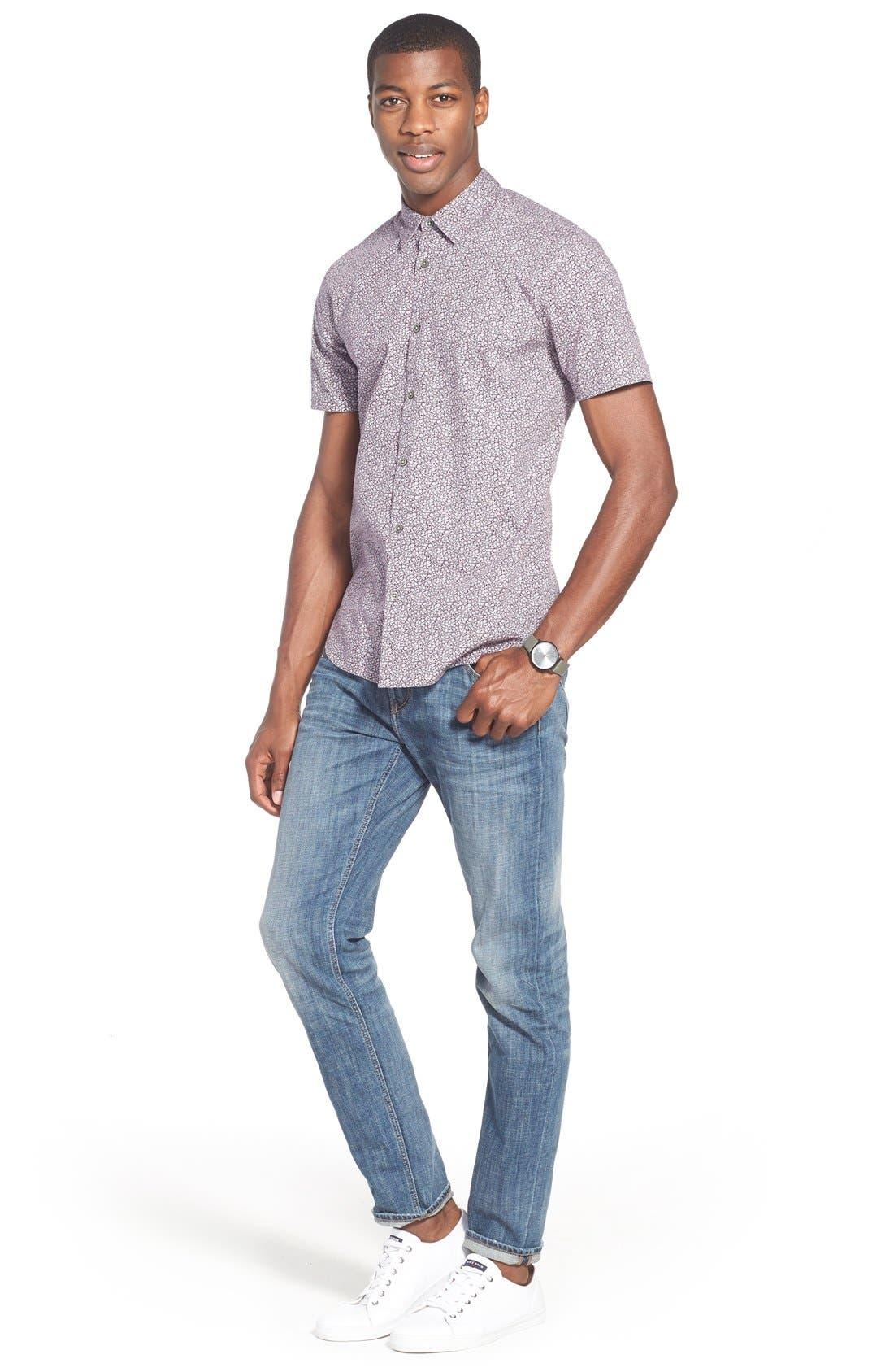 Alternate Image 6  - Treasure&Bond Slim Fit Jeans (Medium Twilight Wash)