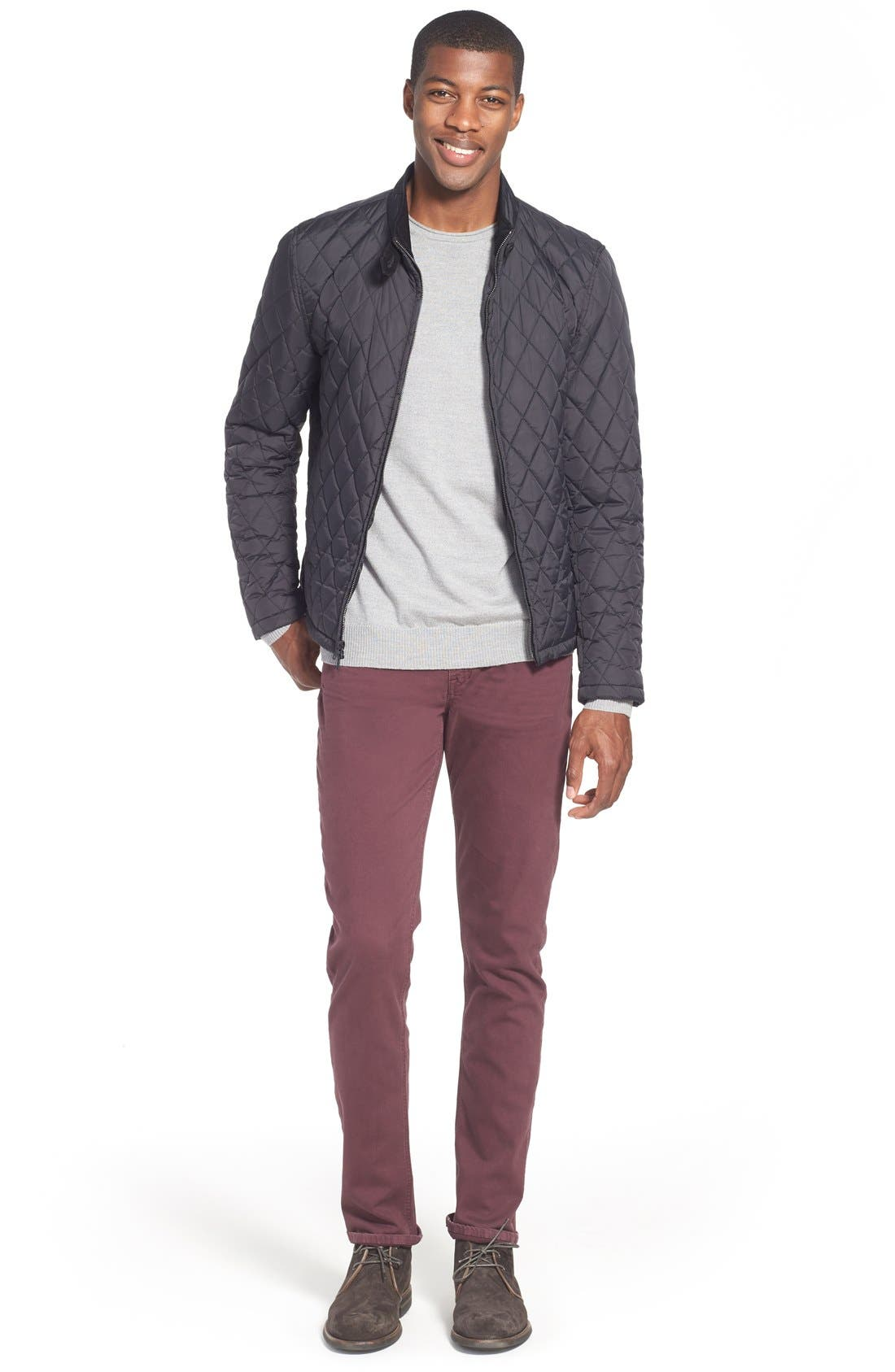 Alternate Image 5  - Vince Camuto Quilted Moto Jacket