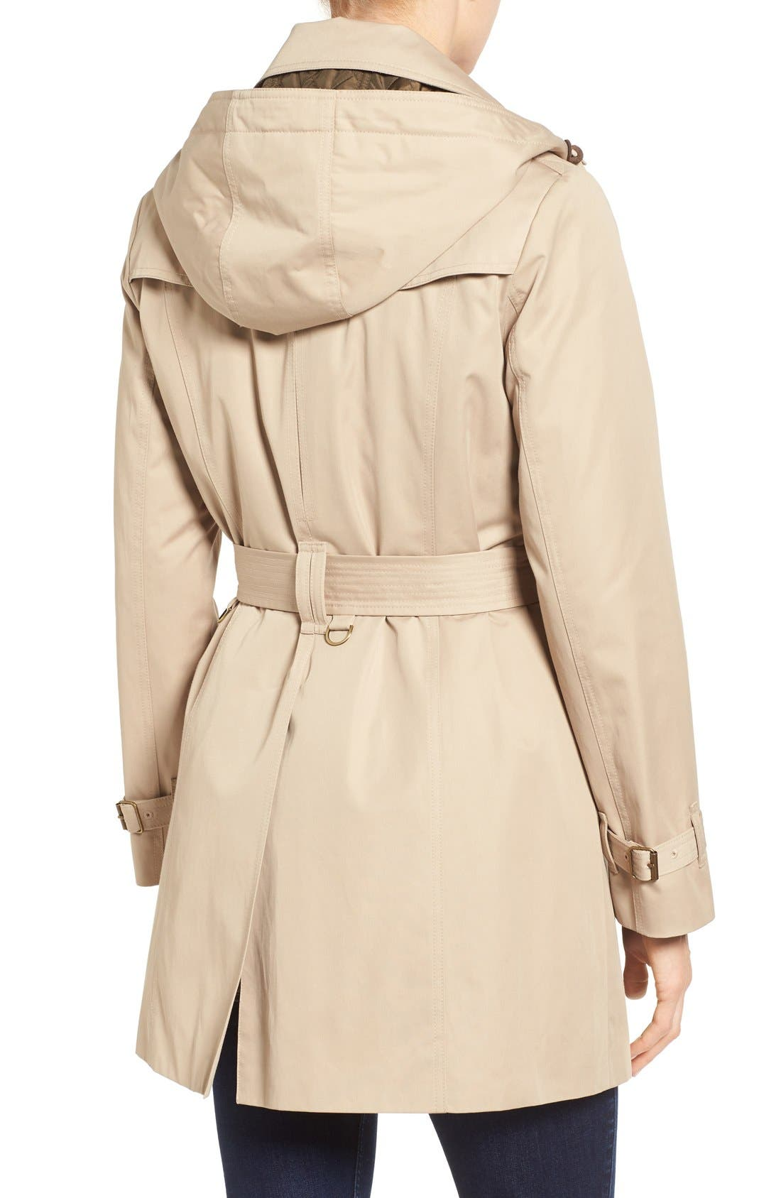 Alternate Image 2  - London Fog Single Breasted Trench Coat (Regular & Petite)