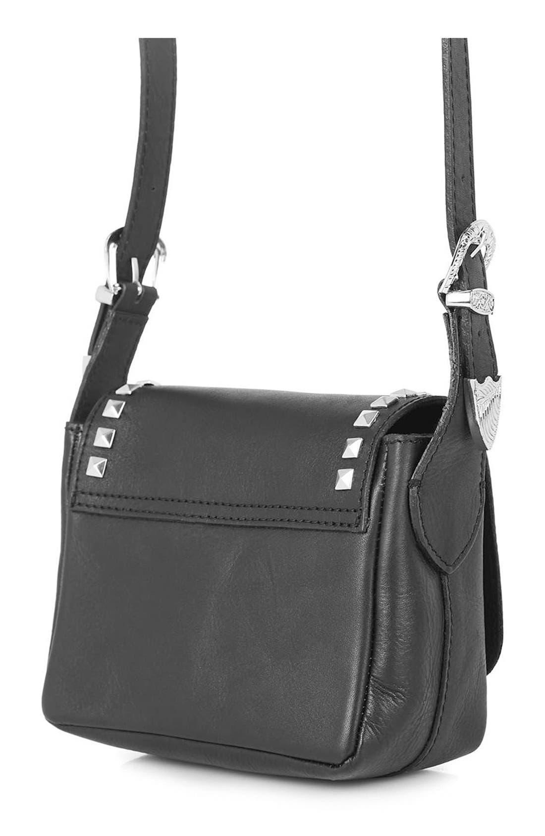 Alternate Image 3  - Topshop 'Rodeo' Studded Leather Crossbody Bag