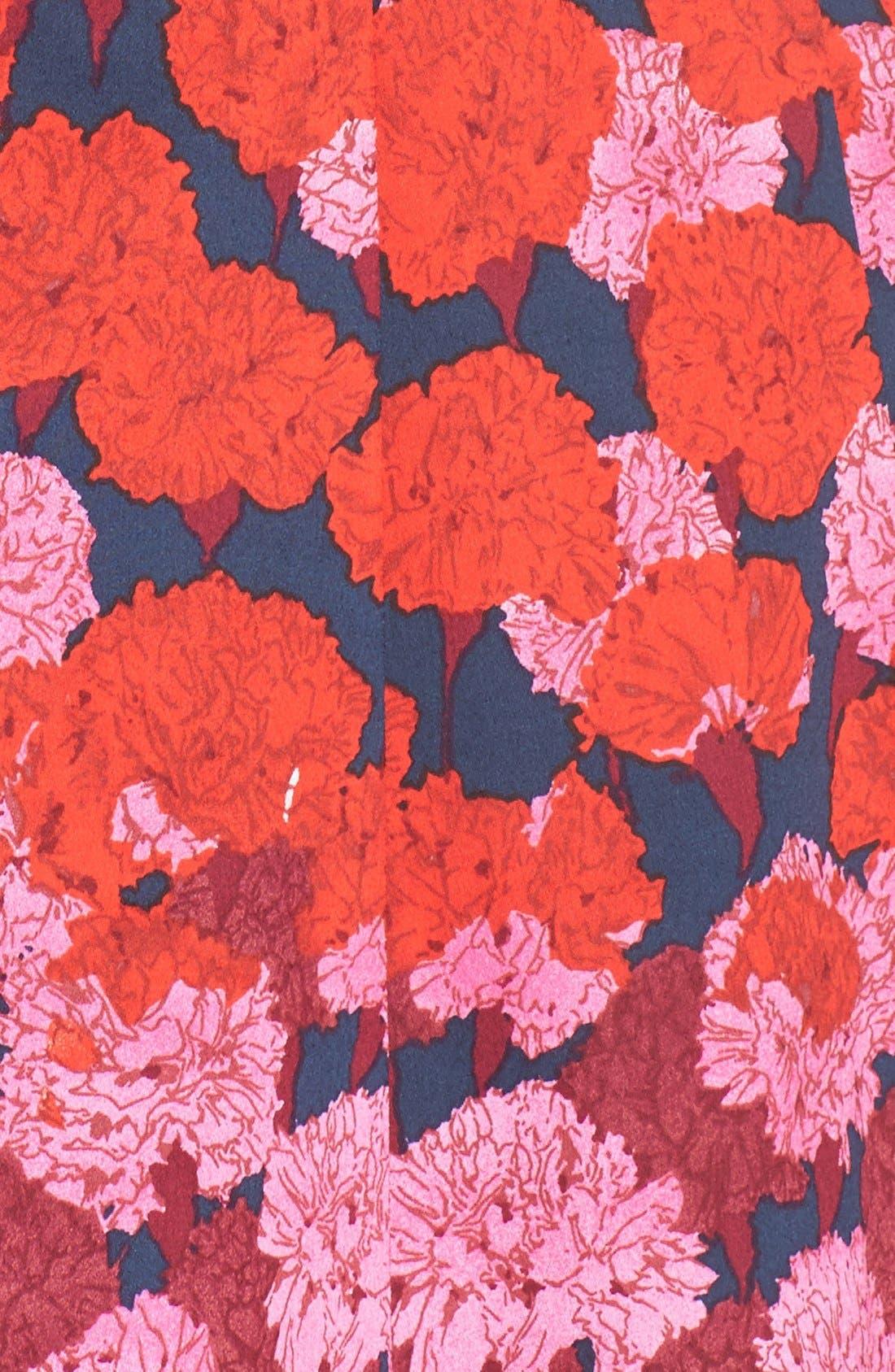 Alternate Image 6  - Maggy London Floral Print Fit & Flare Dress (Regular & Petite)