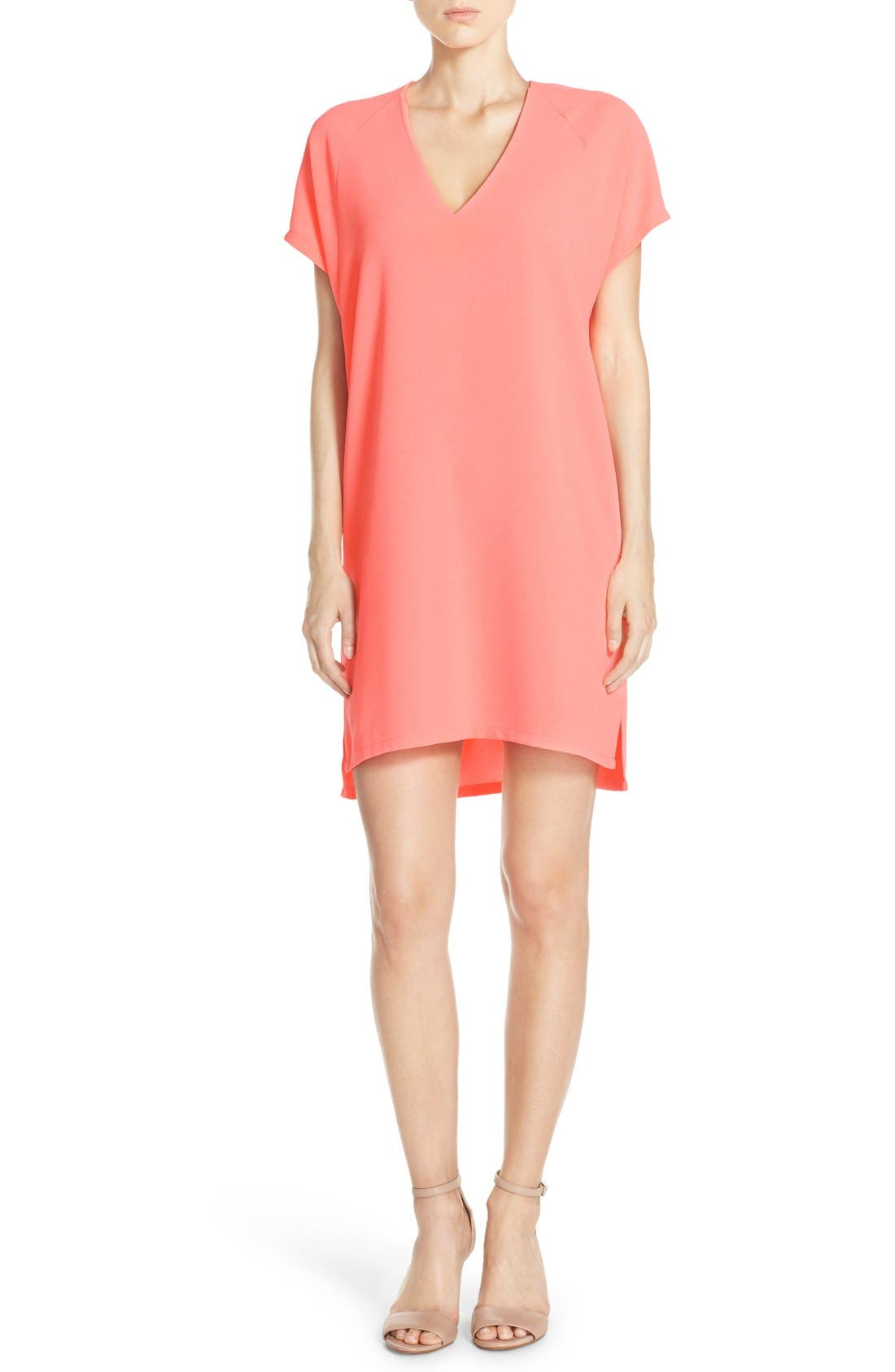 Felicity & Coco Kinsey V-Neck Crepe Shift Dress