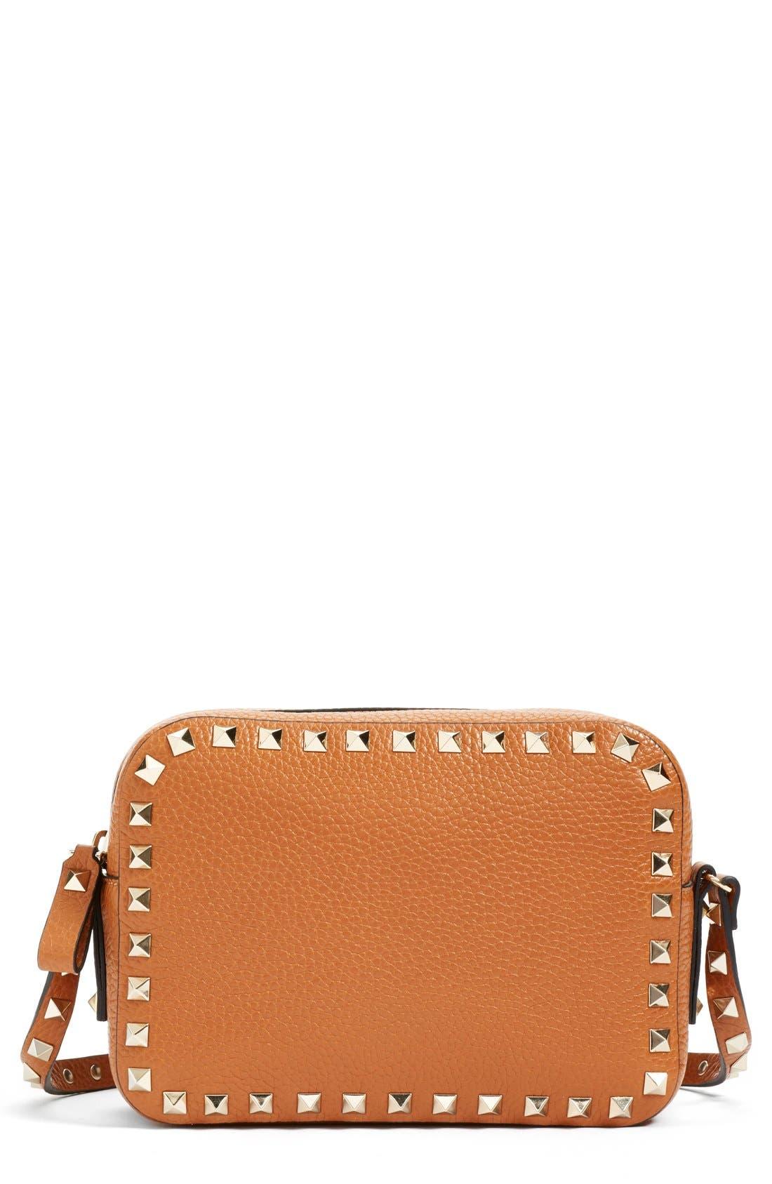 Alternate Image 1 Selected - Valentino 'Rockstud - Alce' Calfskin Leather Camera Crossbody Bag