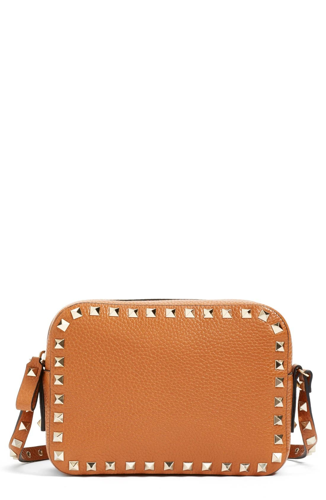 Main Image - Valentino 'Rockstud - Alce' Calfskin Leather Camera Crossbody Bag