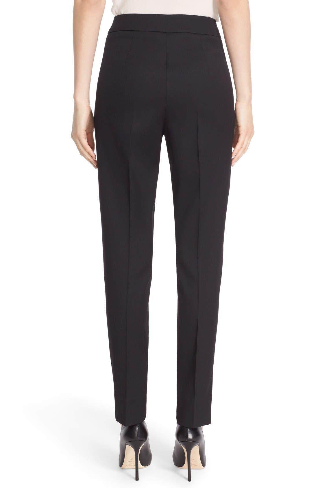 Alternate Image 2  - Oscar de la Renta Stretch Wool Straight Leg Pants