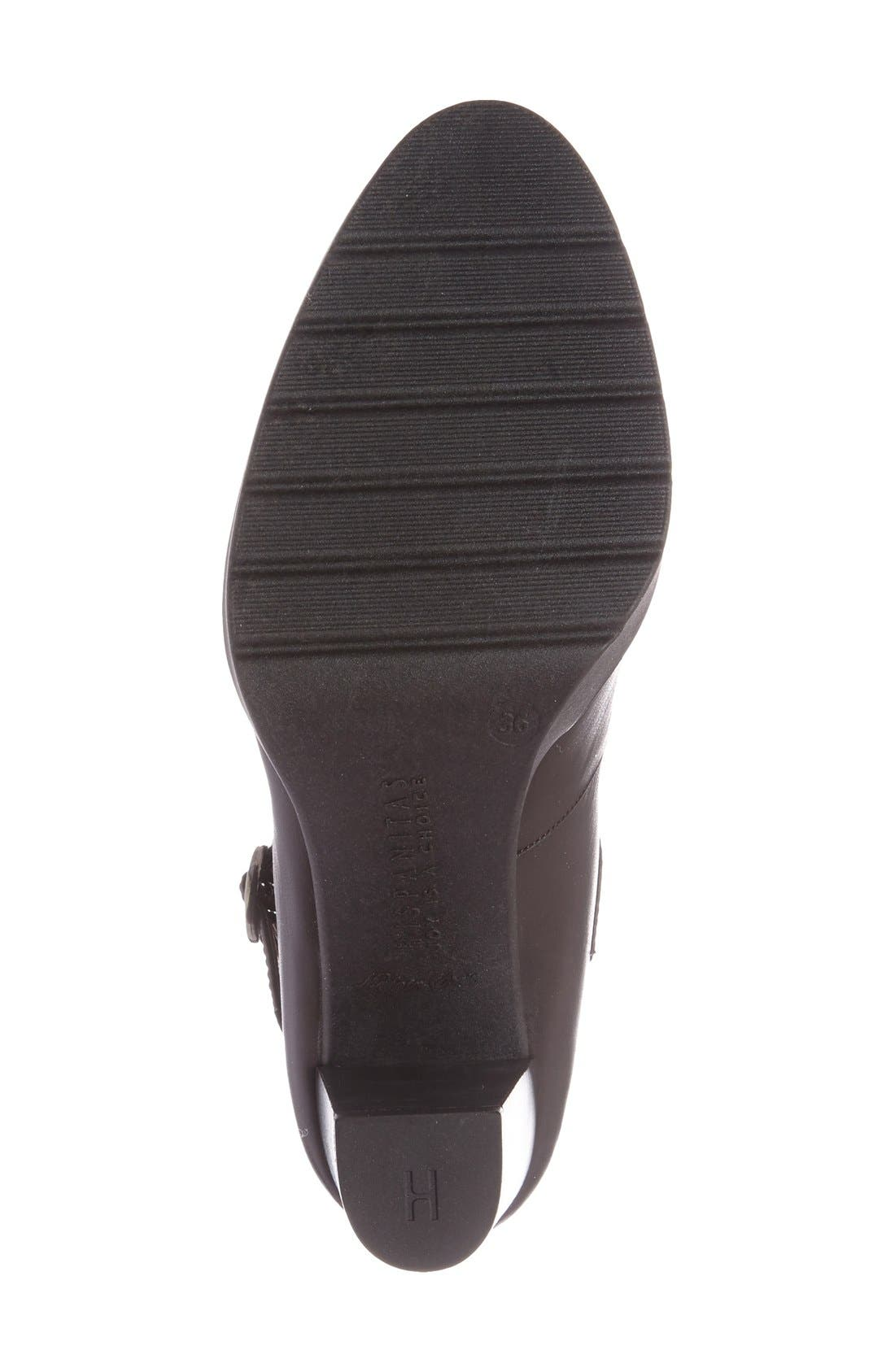 'Veda' Mary Jane Pump,                             Alternate thumbnail 4, color,                             Brown Leather