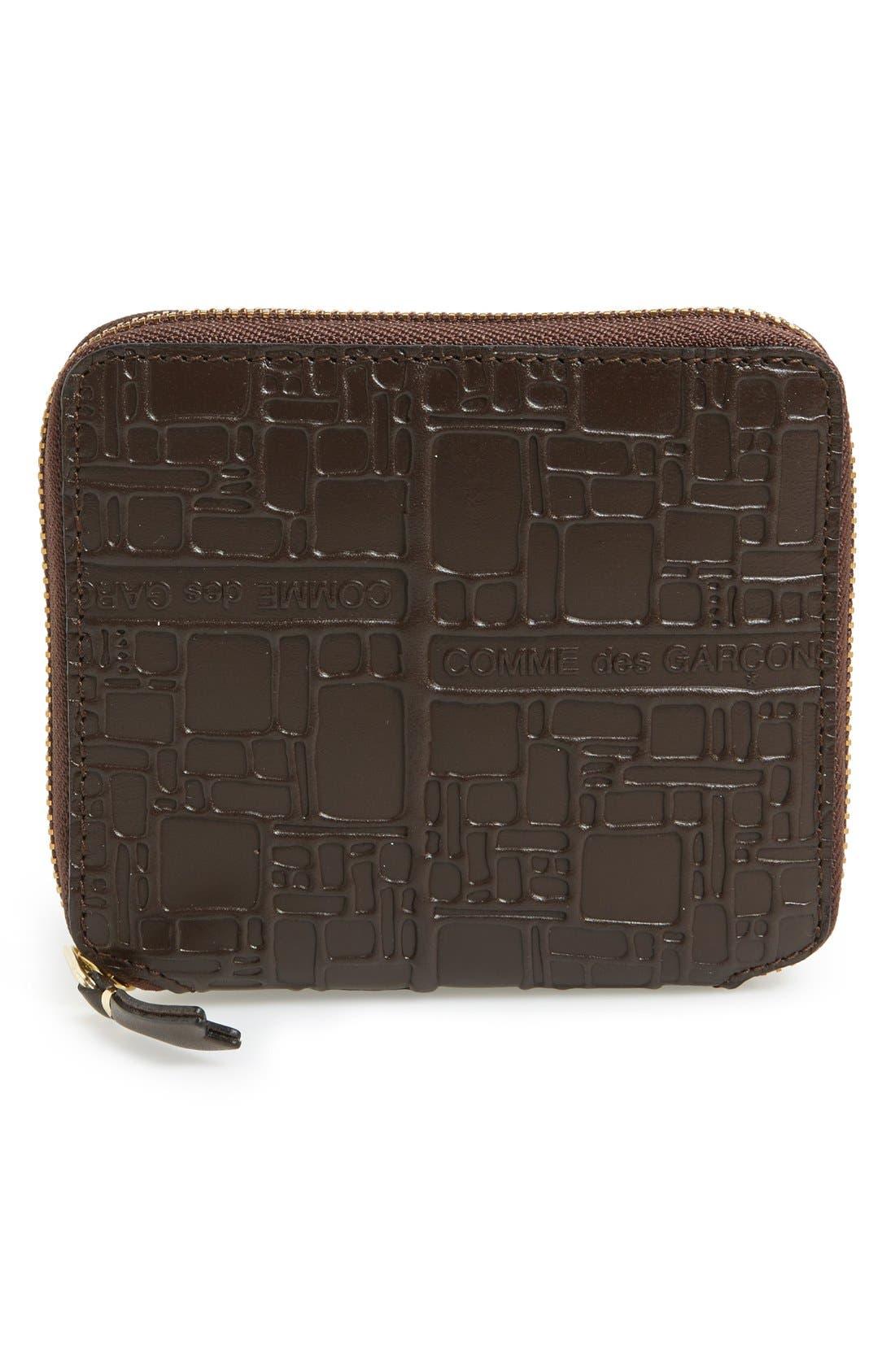 Alternate Image 1 Selected - Comme de Garçons Embossed French Wallet