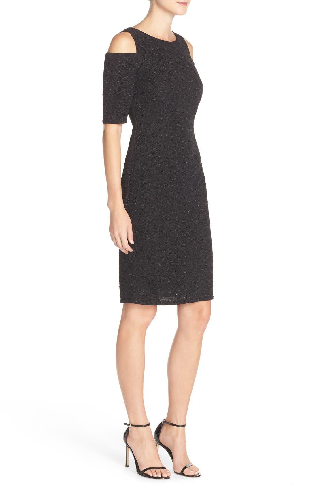Alternate Image 3  - Eliza J Cold Shoulder Sparkle Knit Sheath Dress