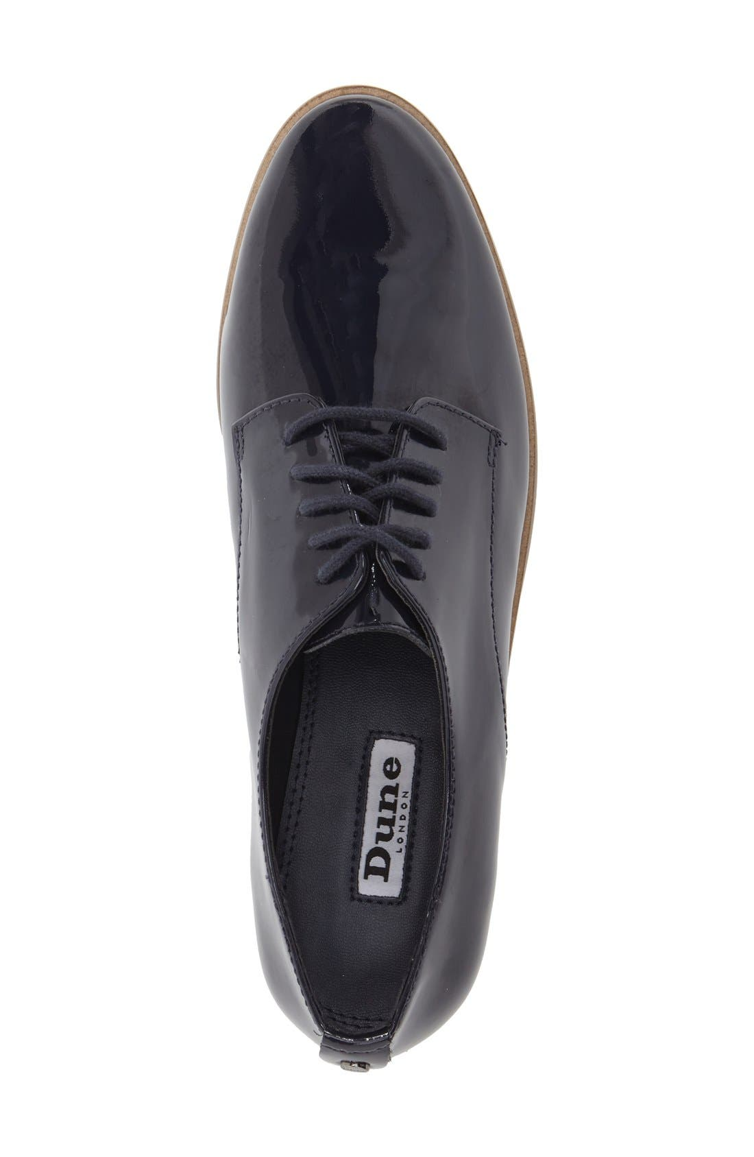 'Flossy' Patent Leather Oxford,                             Alternate thumbnail 3, color,                             Navy Patent Leather