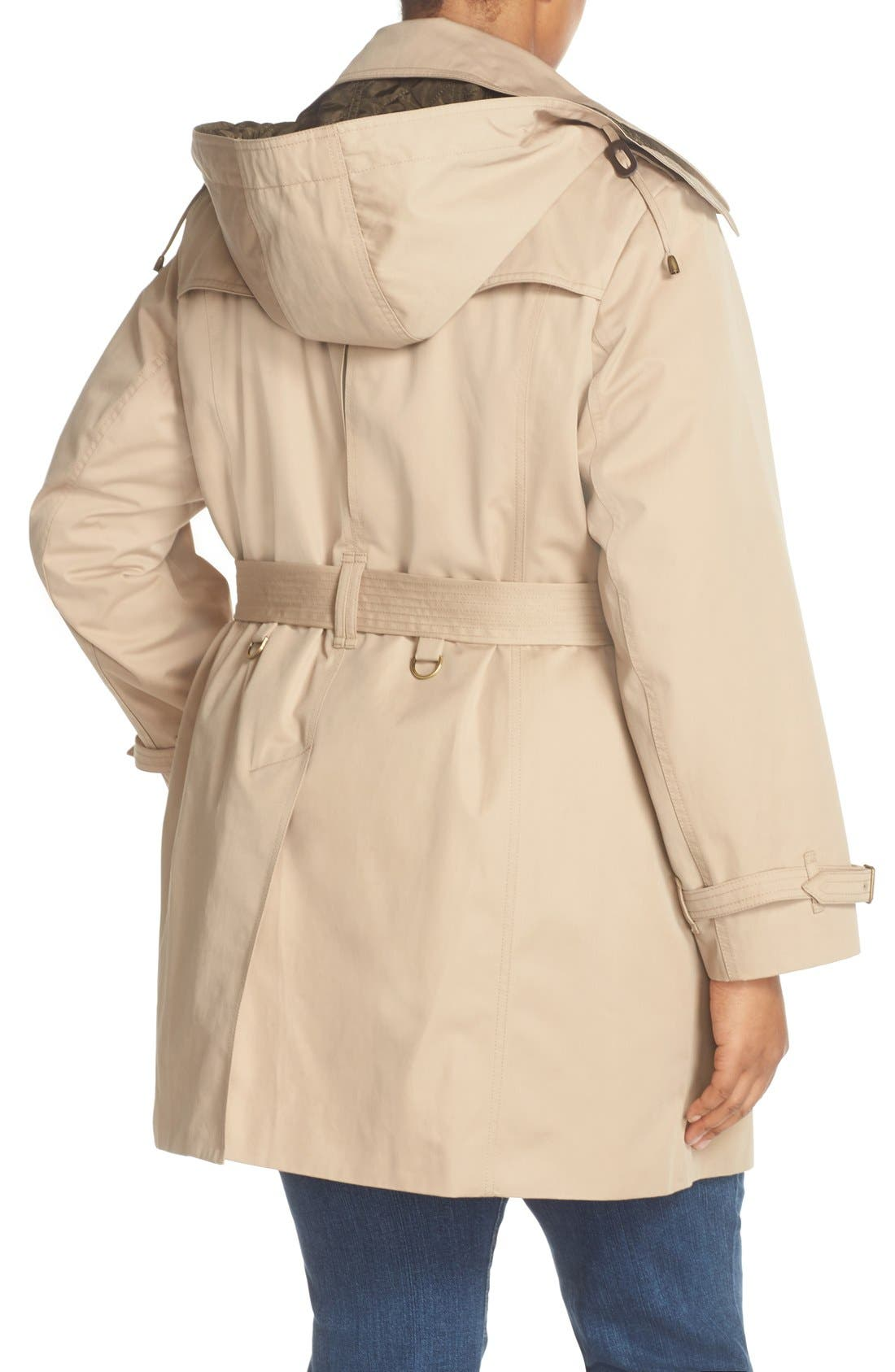 Alternate Image 2  - London Fog Single Breasted Trench Coat (Plus Size)