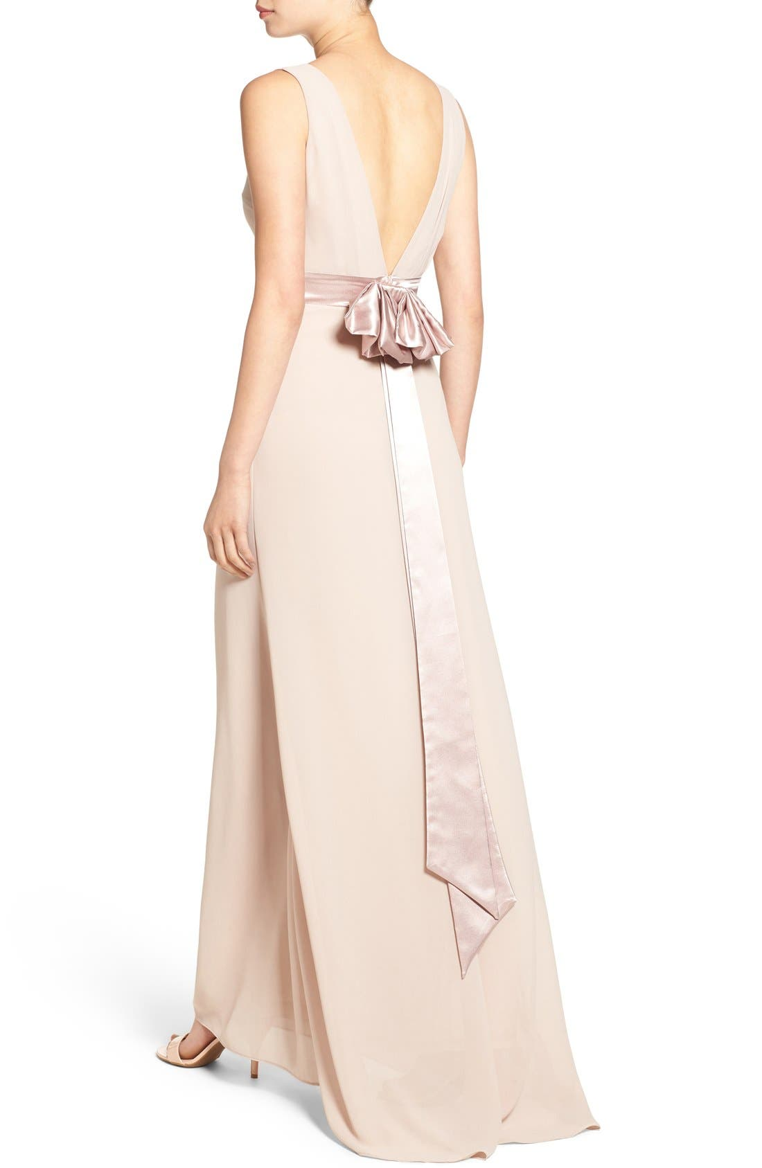 Alternate Image 4  - TFNC 'Halanna' Bow Detail Maxi Dress