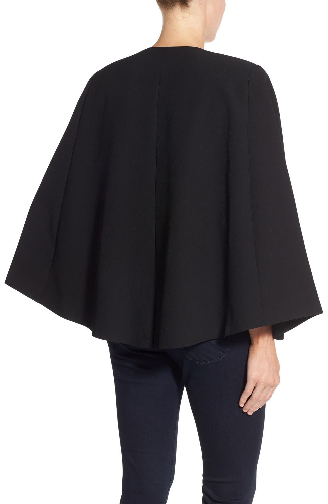 Alternate Image 3  - Vince Camuto Kiss Front Cape (Regular & Petite)