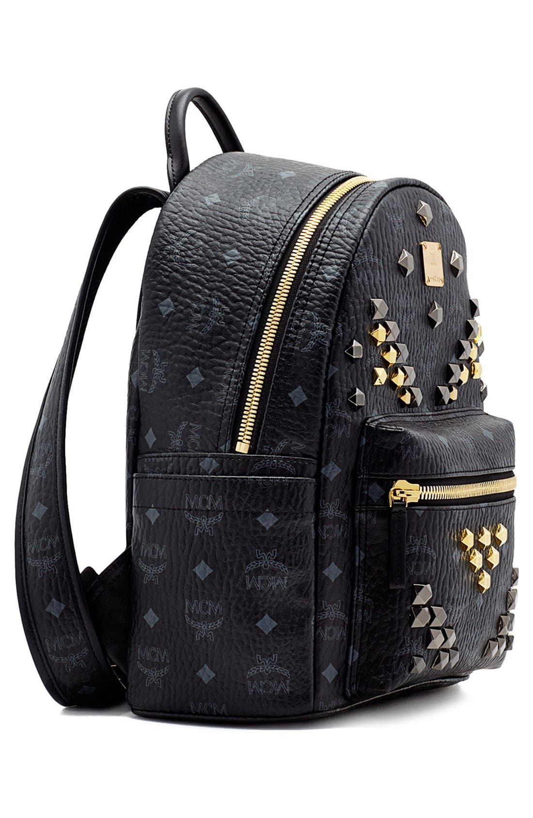 Alternate Image 5  - MCM 'Small Stark - Visetos' Studded Backpack