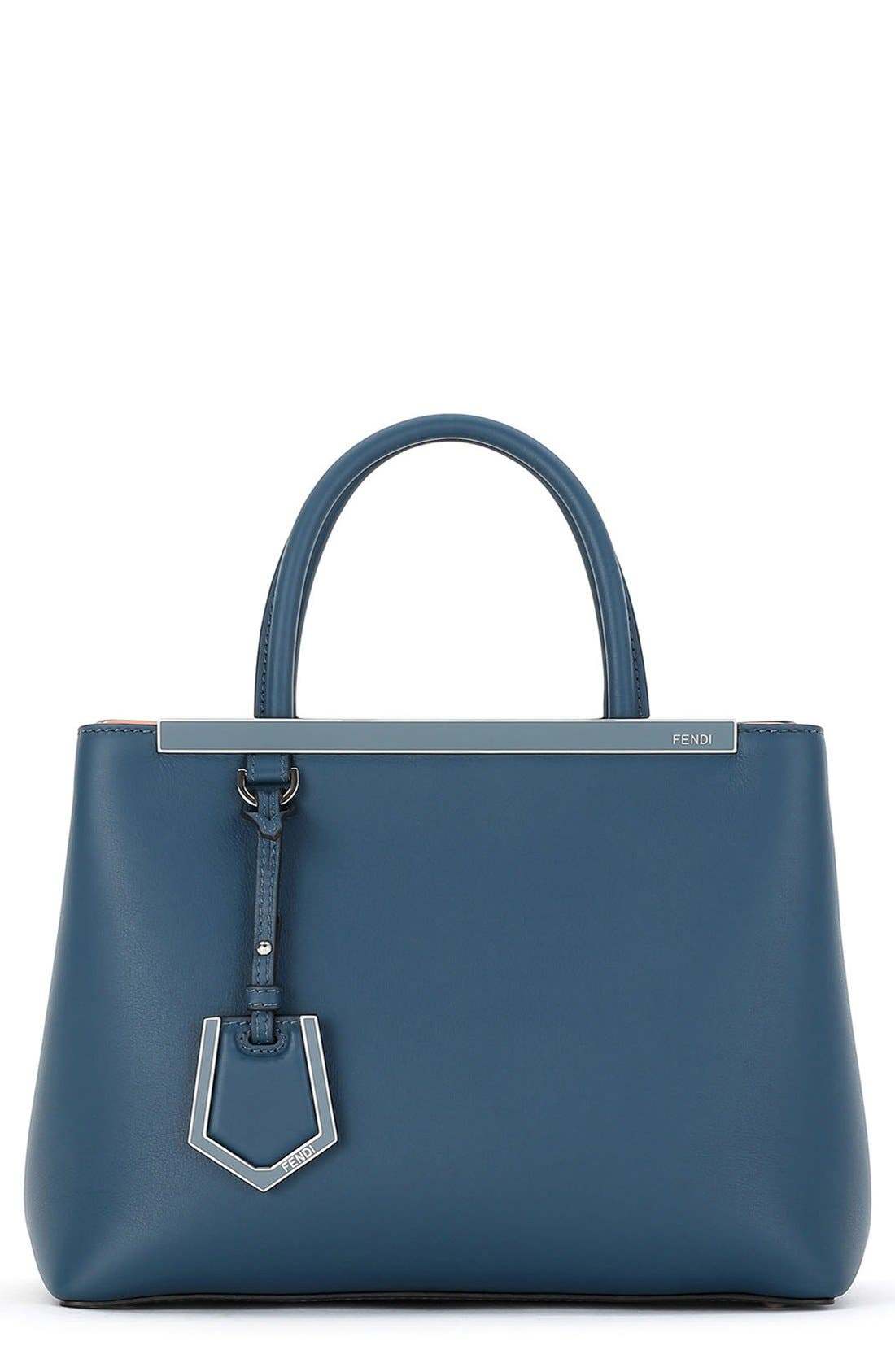 Alternate Image 1 Selected - Fendi 'Petite 2Jours' Leather Shopper