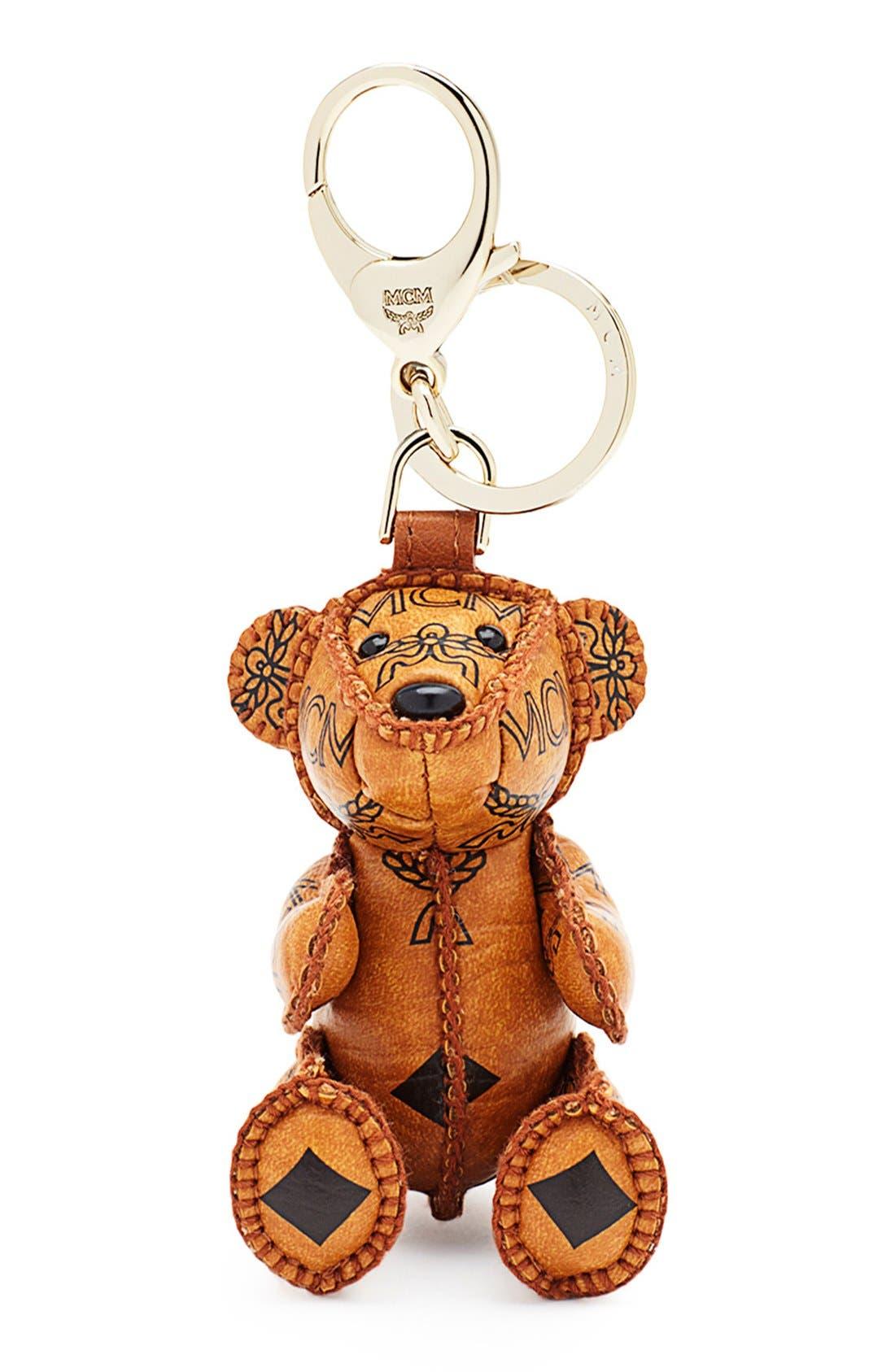 Bear Bag Charm,                         Main,                         color, Cognac