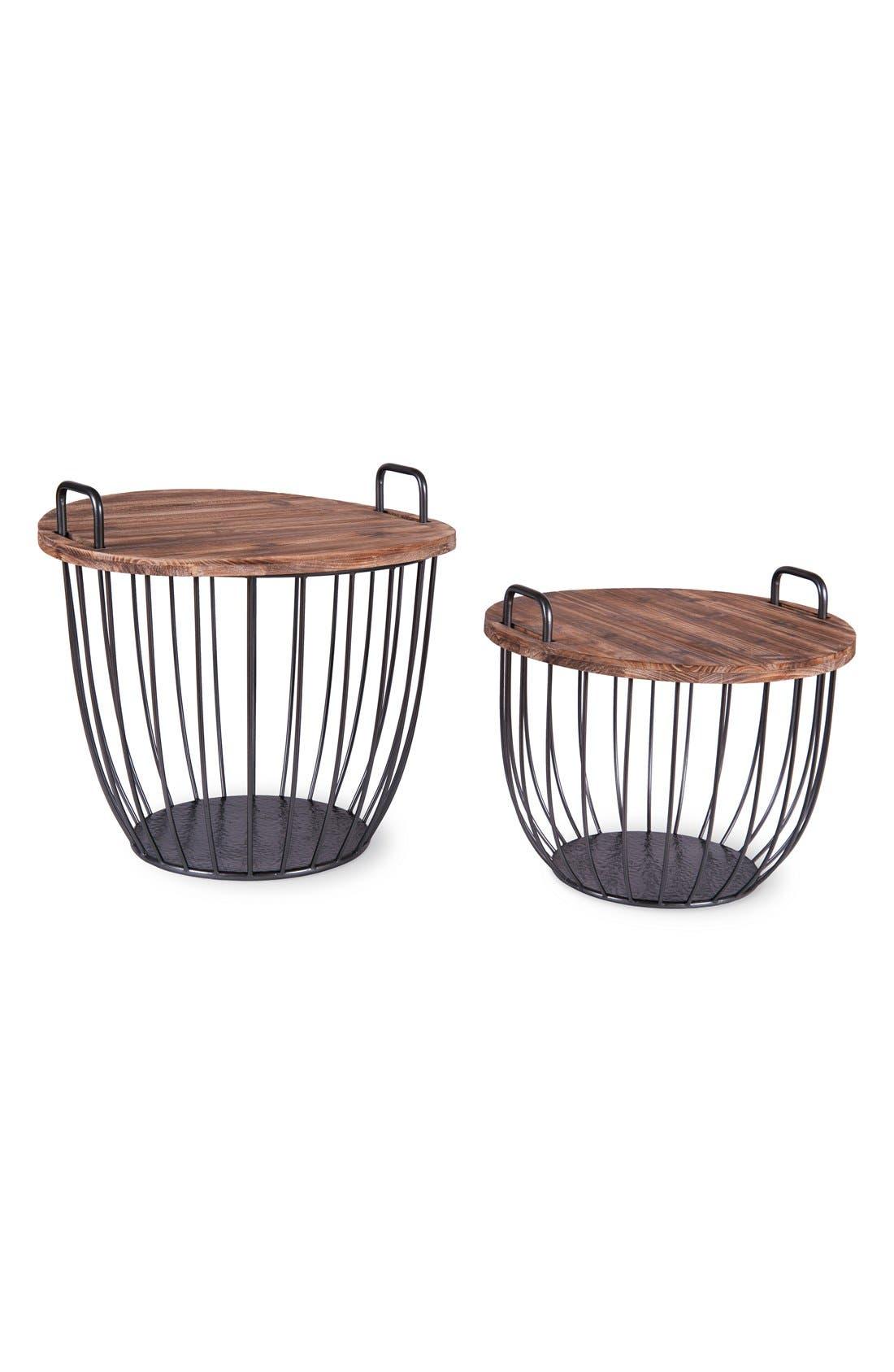 Alternate Image 1 Selected - Foreside Basket Tables (Set of 2)