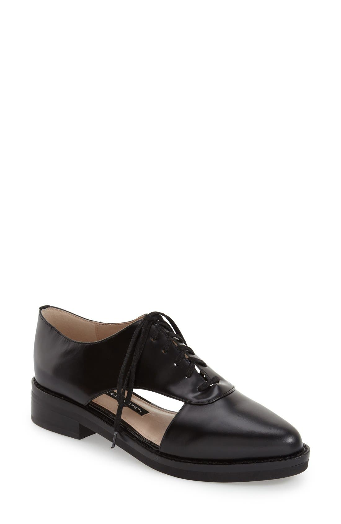 'Mazin' Oxford,                             Main thumbnail 1, color,                             Black Leather