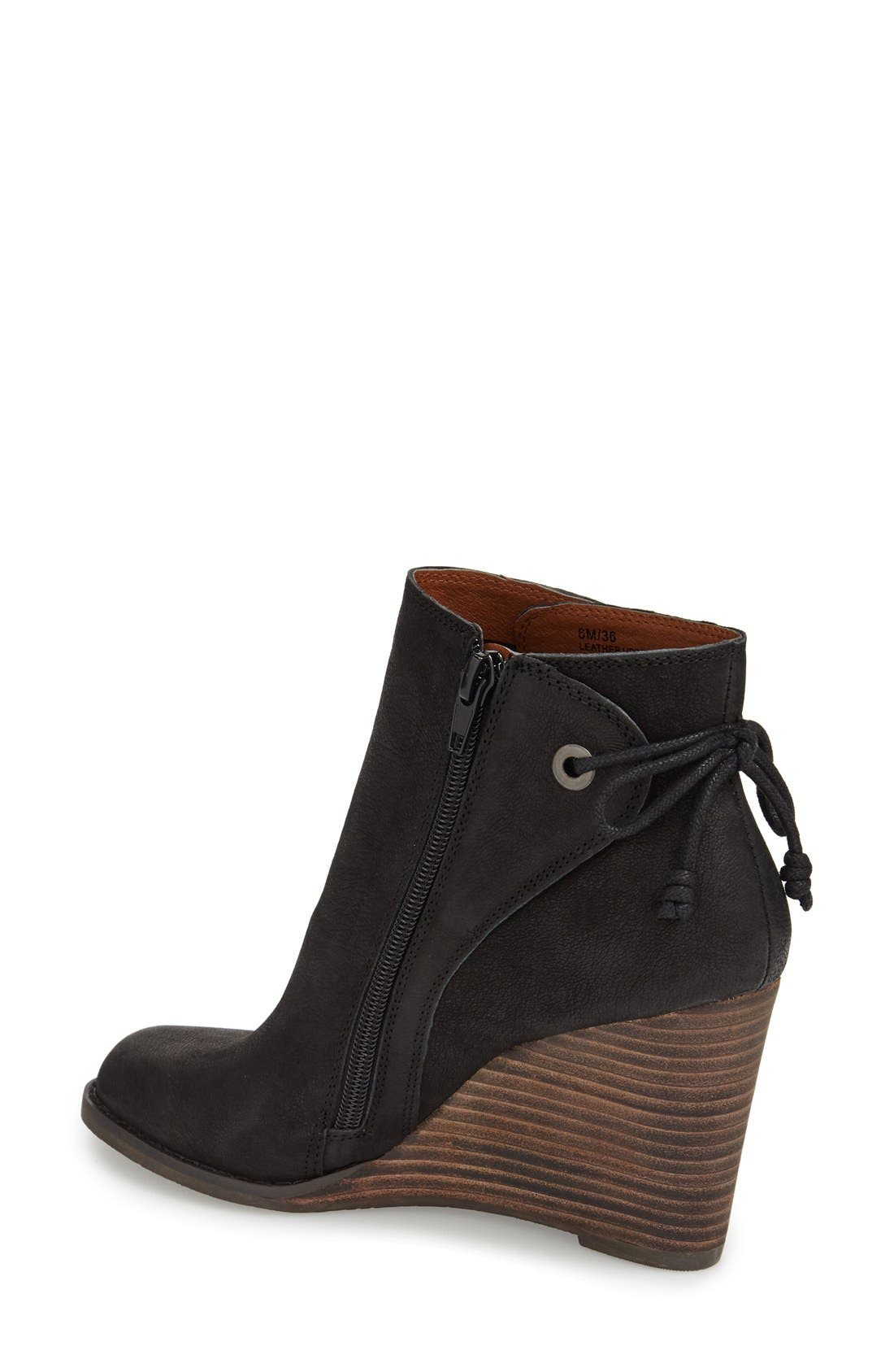 Alternate Image 2  - Lucky Brand 'Yamina' Wedge Zip Bootie (Women)