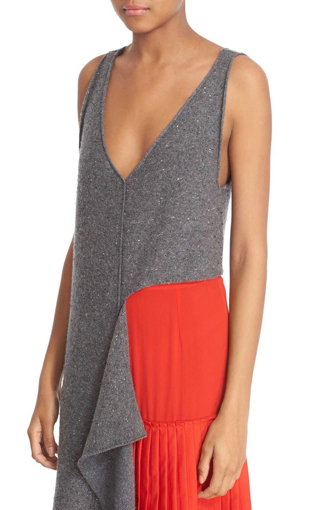 Alternate Image 6  - Stella McCartney Asymmetric High/Low Flannel Top