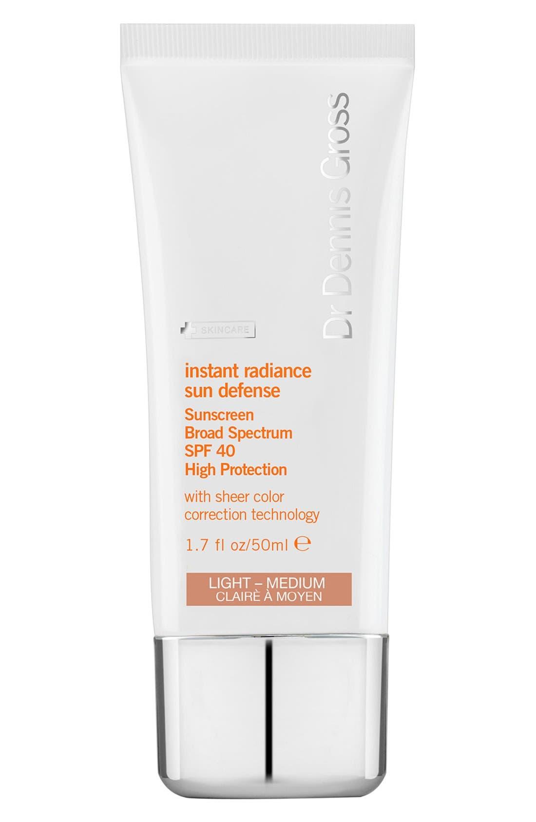 Dr. Dennis Gross Skincare 'Instant Radiance' Sun Defense Sunscreen Broad Spectrum SPF 40