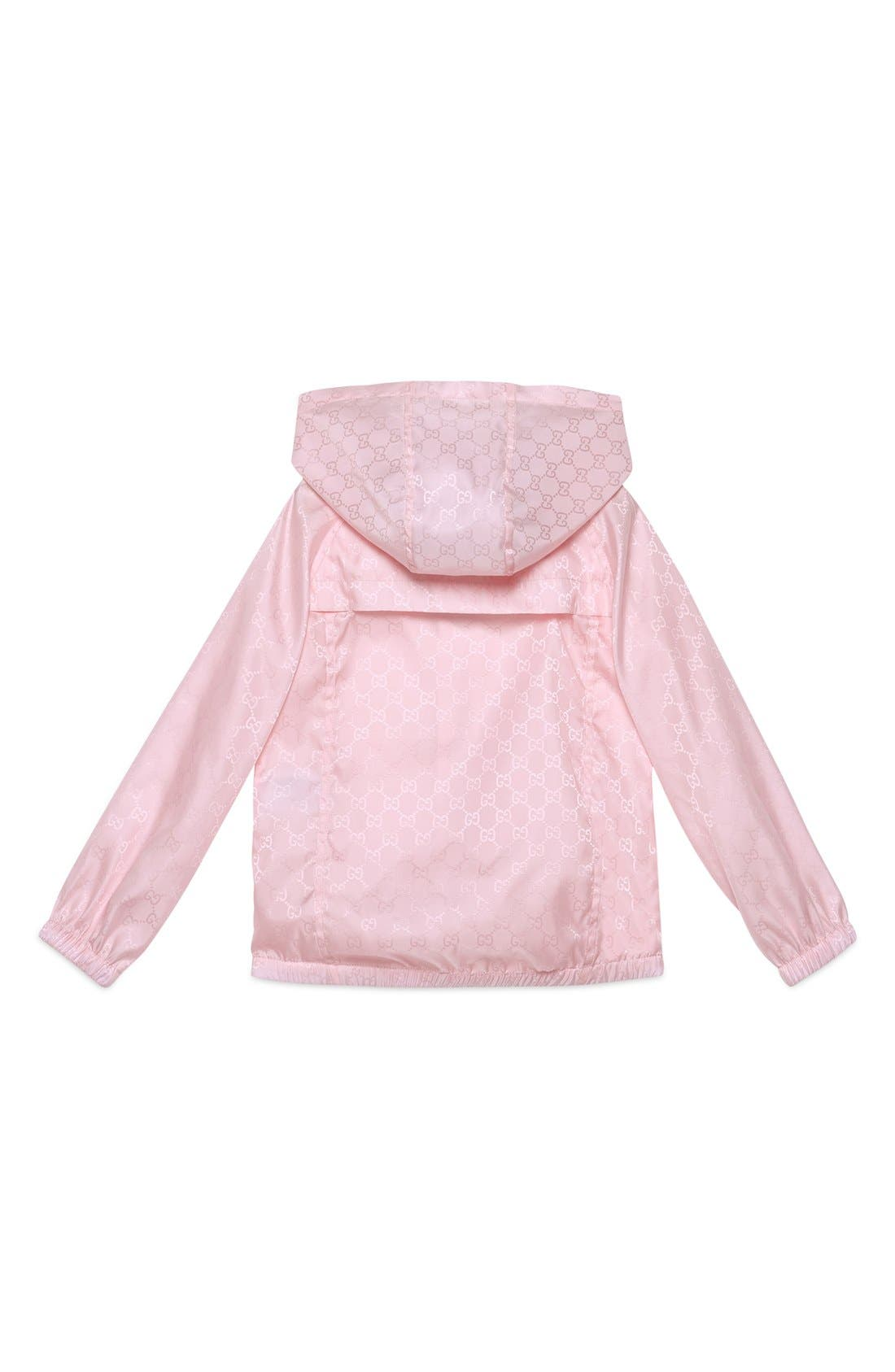 Alternate Image 2  - Gucci Logo Jacquard Nylon Jacket (Little Girls & Big Girls)