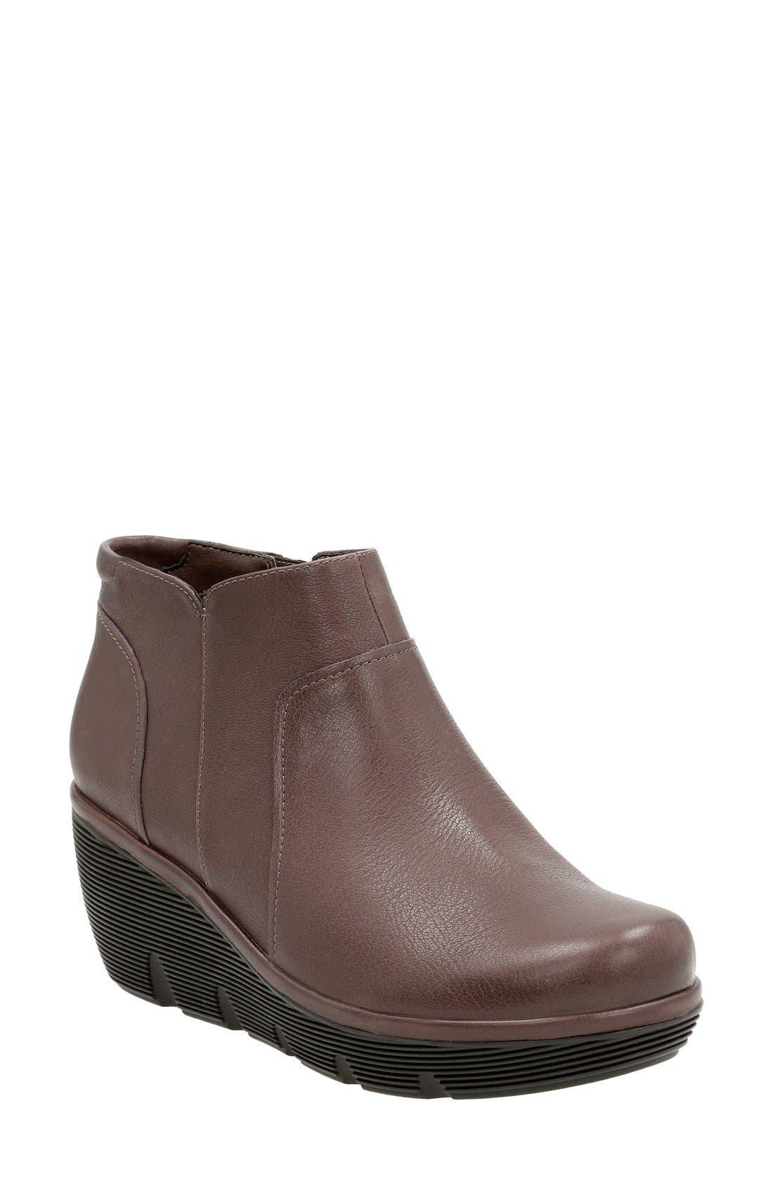 Alternate Image 1 Selected - Clarks® 'Clarene Sun' Wedge Boot (Women)