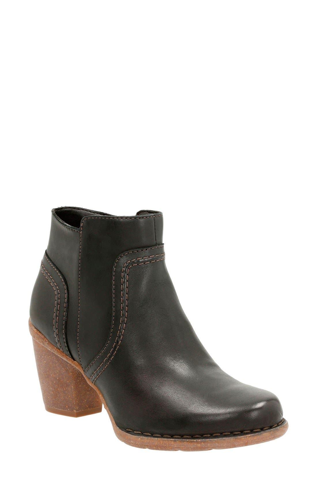 'Carleta Paris' Ankle Boot,                             Main thumbnail 1, color,                             Black Leather