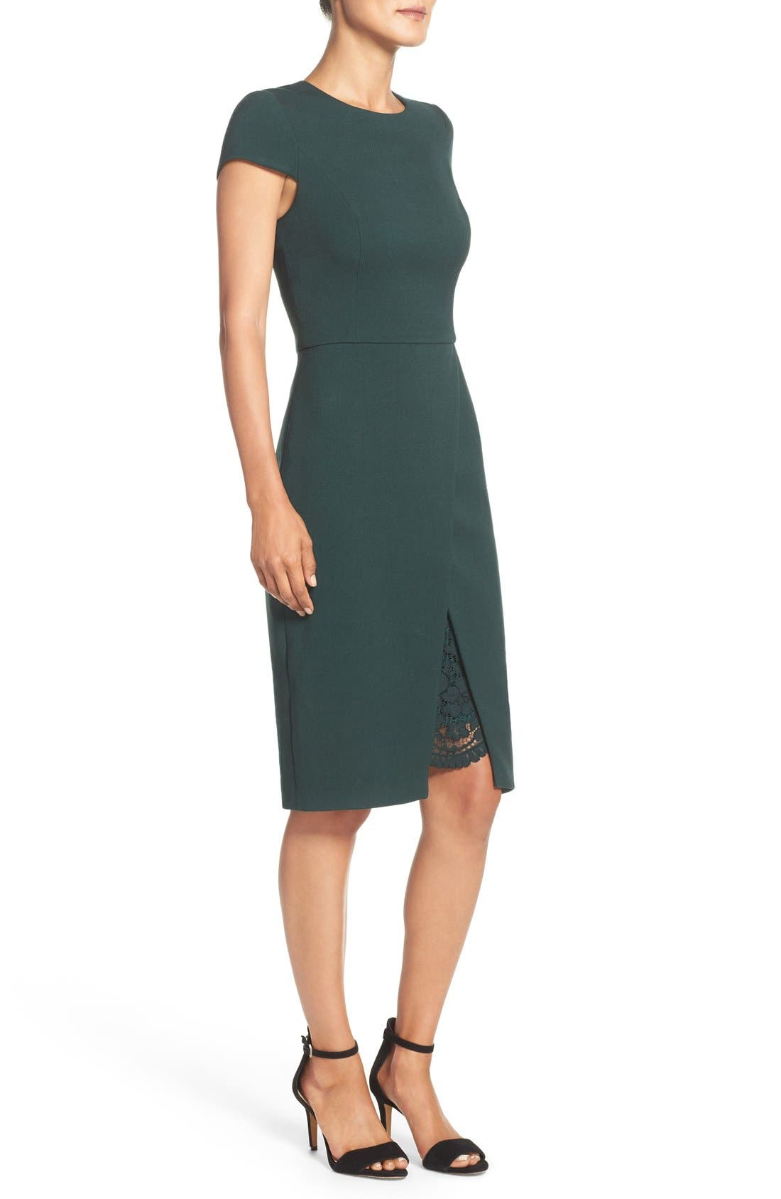 Alternate Image 2  - Vince Camuto Midi Sheath Dress (Regular & Petite)
