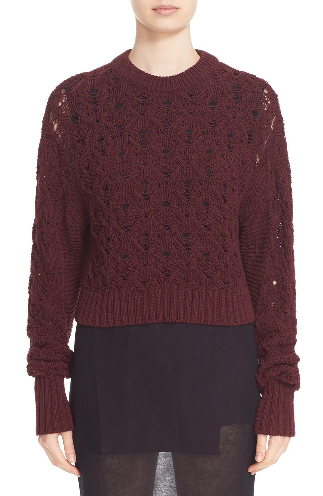 Alternate Image 1 Selected - Public School Cotton Blend Cable Knit Sweater