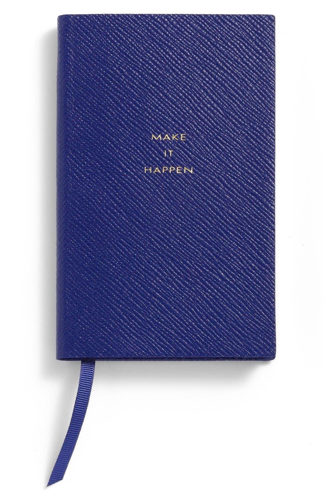 'Make It Happen - Panama' Pocket Notebook,                         Main,                         color, Cobalt