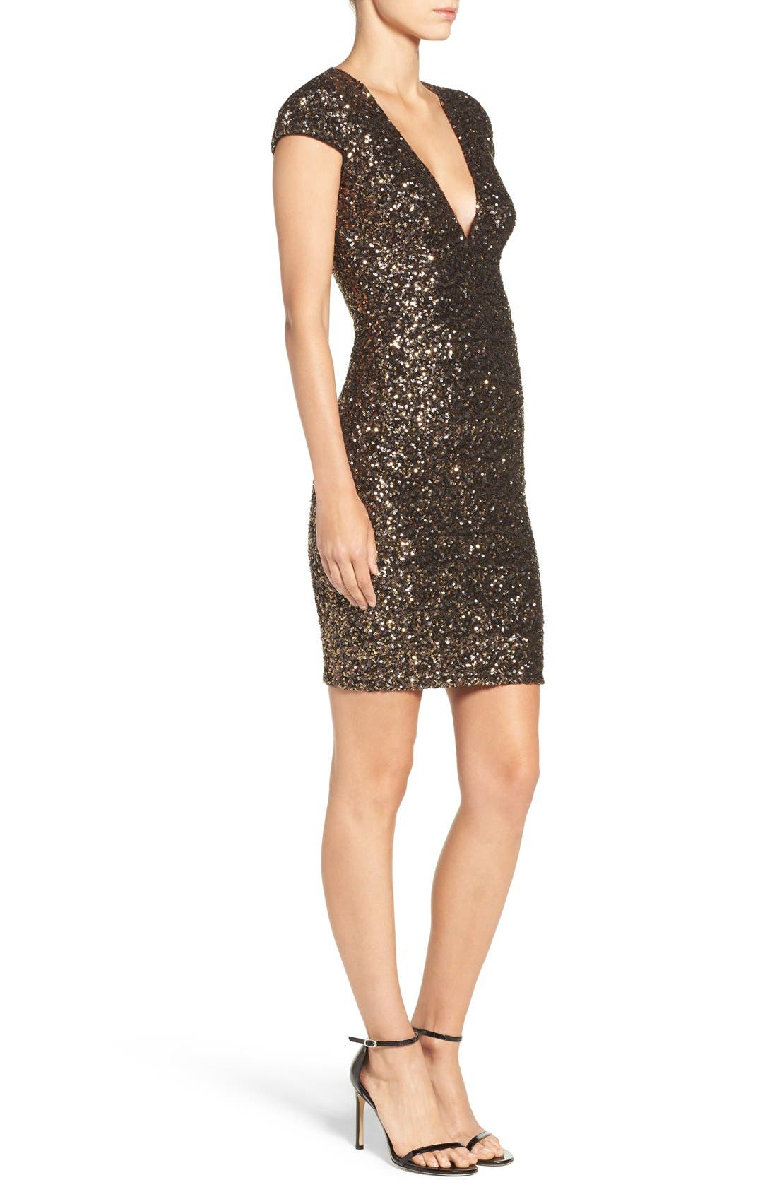 Alternate Image 5  - Dress the Population Zoe Sequin Minidress (Nordstrom Exclusive)