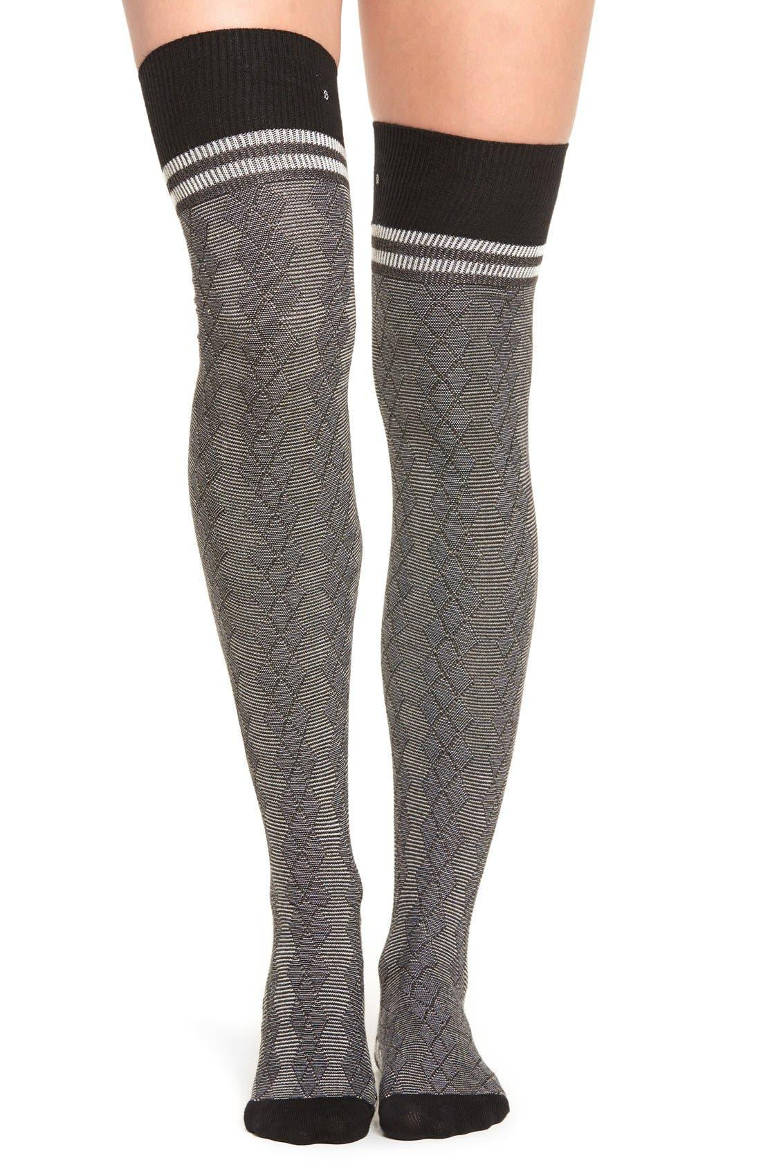 Alternate Image 1 Selected - Stance 'Fine Line' Over the Knee Socks