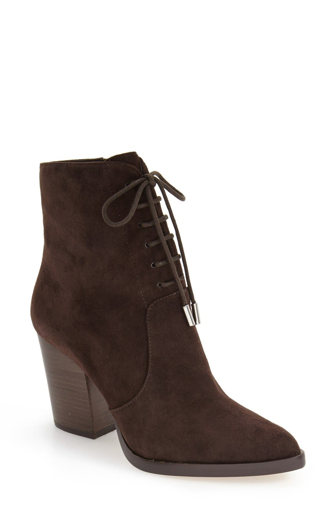 Alternate Image 1 Selected - Marc Fisher LTD Aaliyah Pointy Toe Lace-Up Bootie (Women)