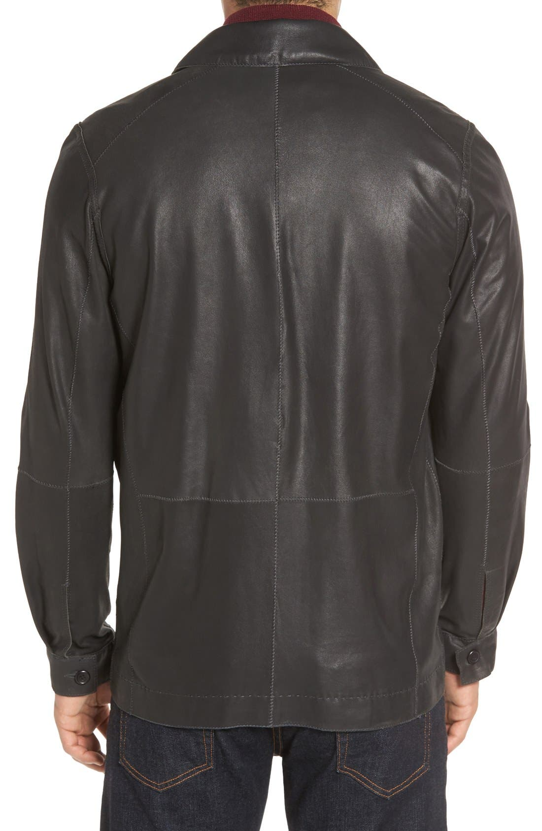 Alternate Image 2  - Missani Le Collezioni Vintage Lambskin Leather Reversible Jacket