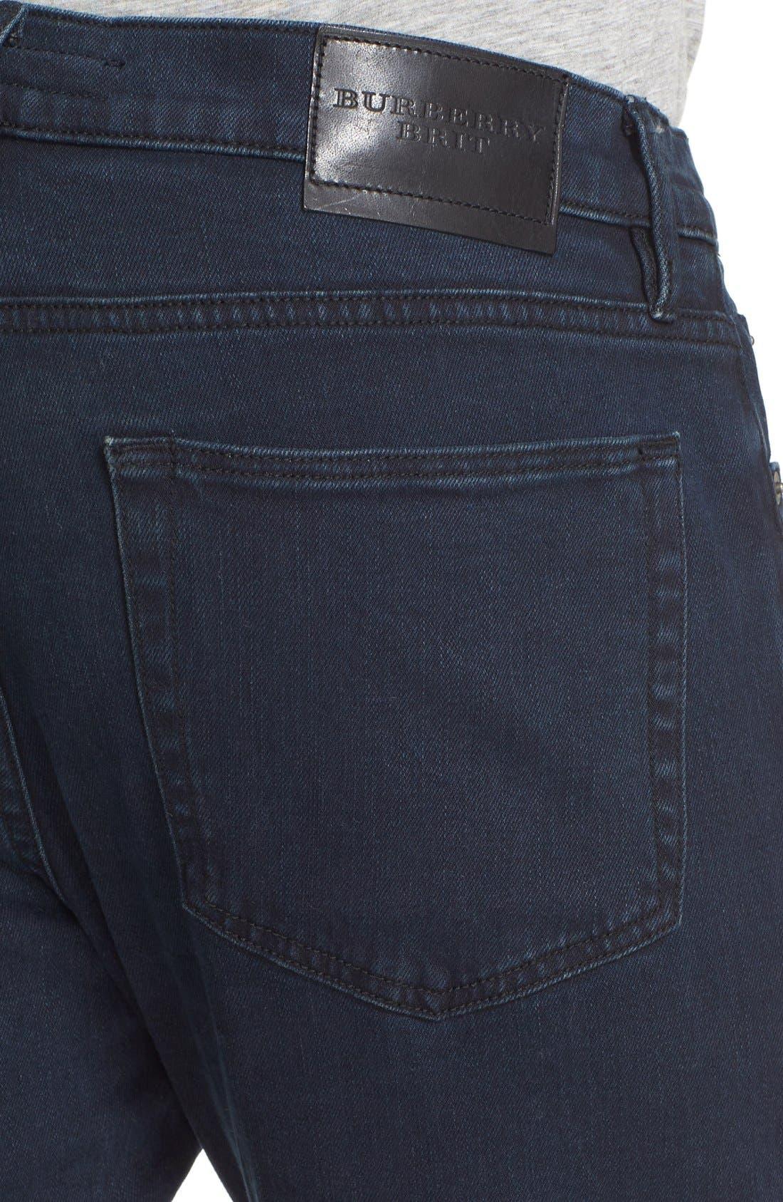Straight Leg Jeans Jeans,                             Alternate thumbnail 4, color,                             Dark Indigo
