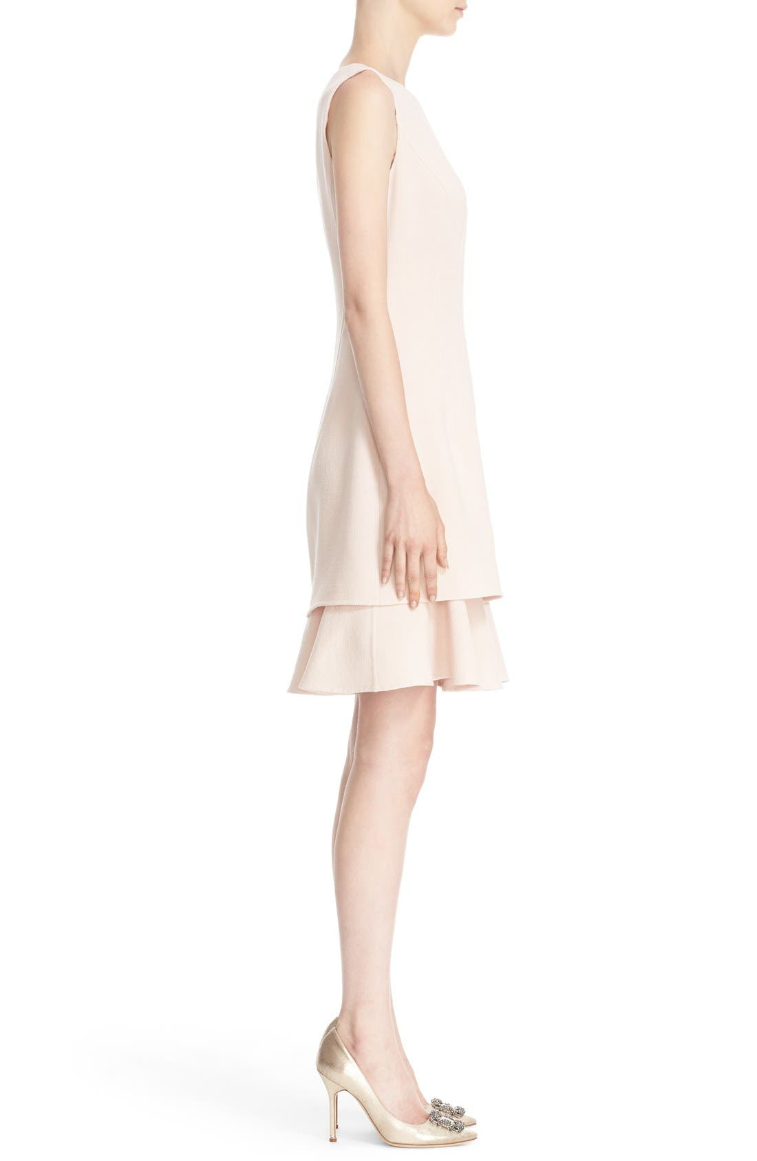 Alternate Image 5  - Oscar de la Renta Tiered Ruffle Hem Dress