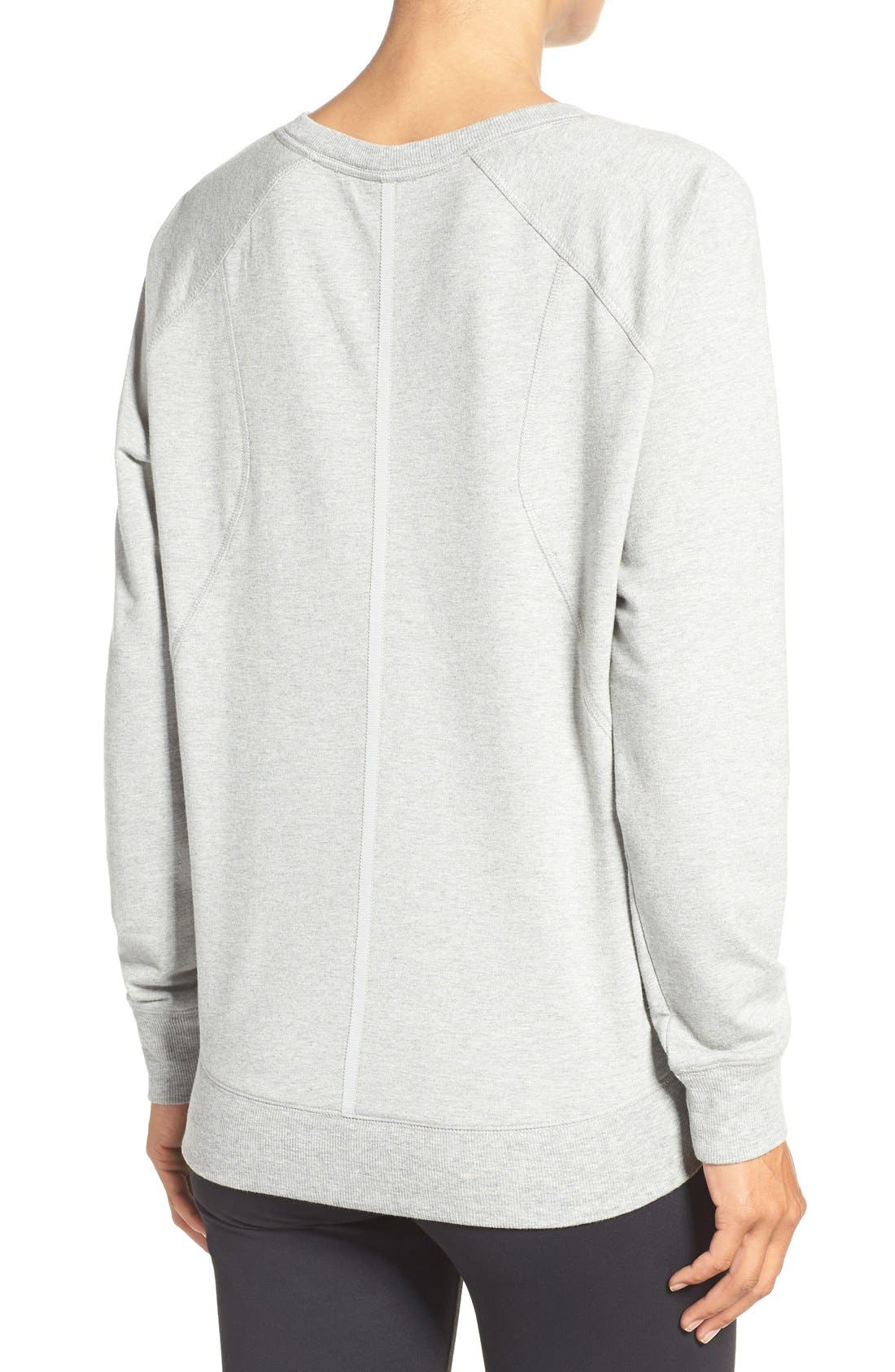 Alternate Image 2  - Zella 'Luxesport' Long Sleeve Sweatshirt