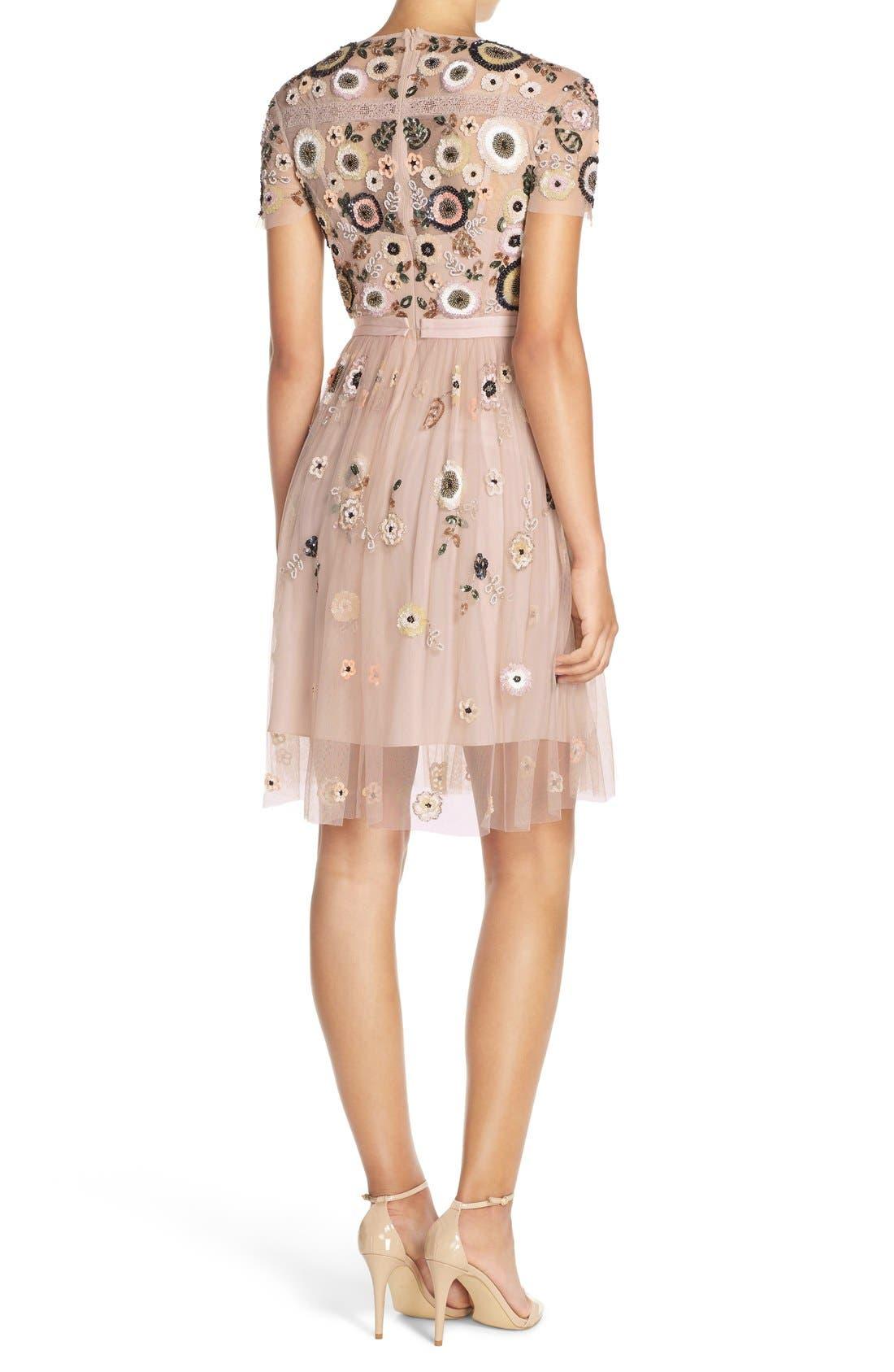 Alternate Image 2  - Needle & Thread 'Woodland' Embellished Tulle Fit & Flare Dress
