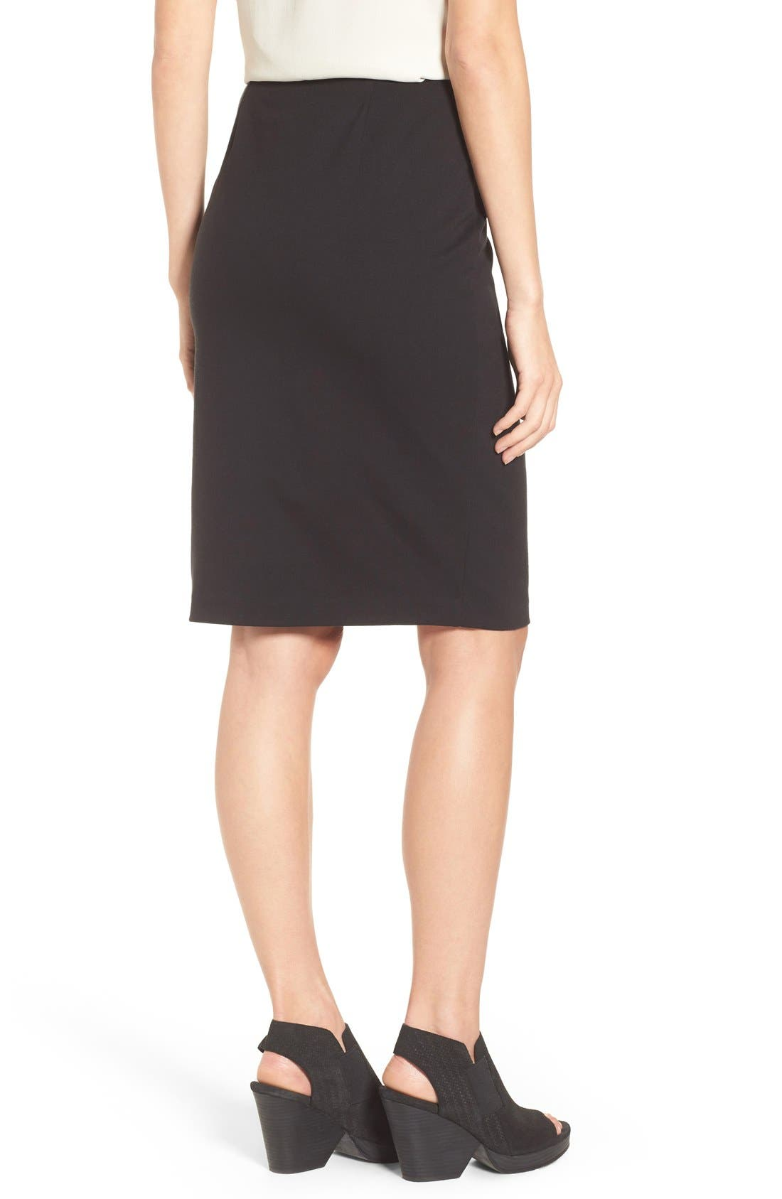 Alternate Image 2  - Eileen Fisher Stretch Ponte Pencil Skirt
