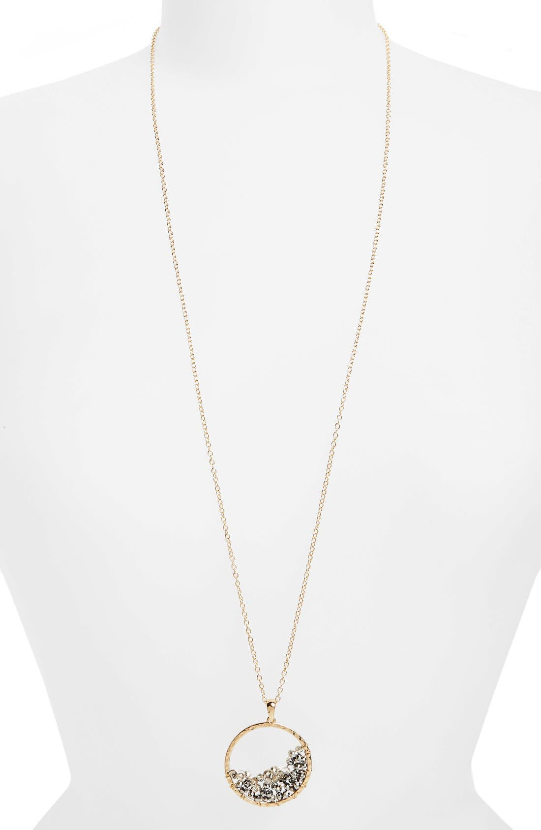 PANACEA Beaded Circle Pendant Necklace