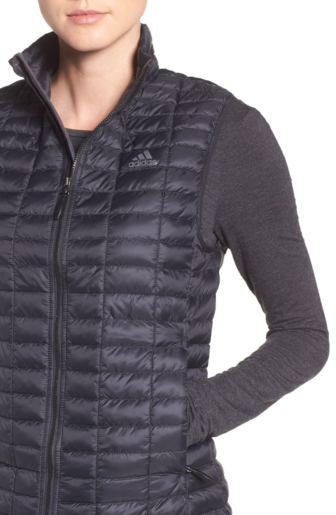 'Flyloft' Insulated Vest,                             Alternate thumbnail 4, color,                             Black/ Utility Black