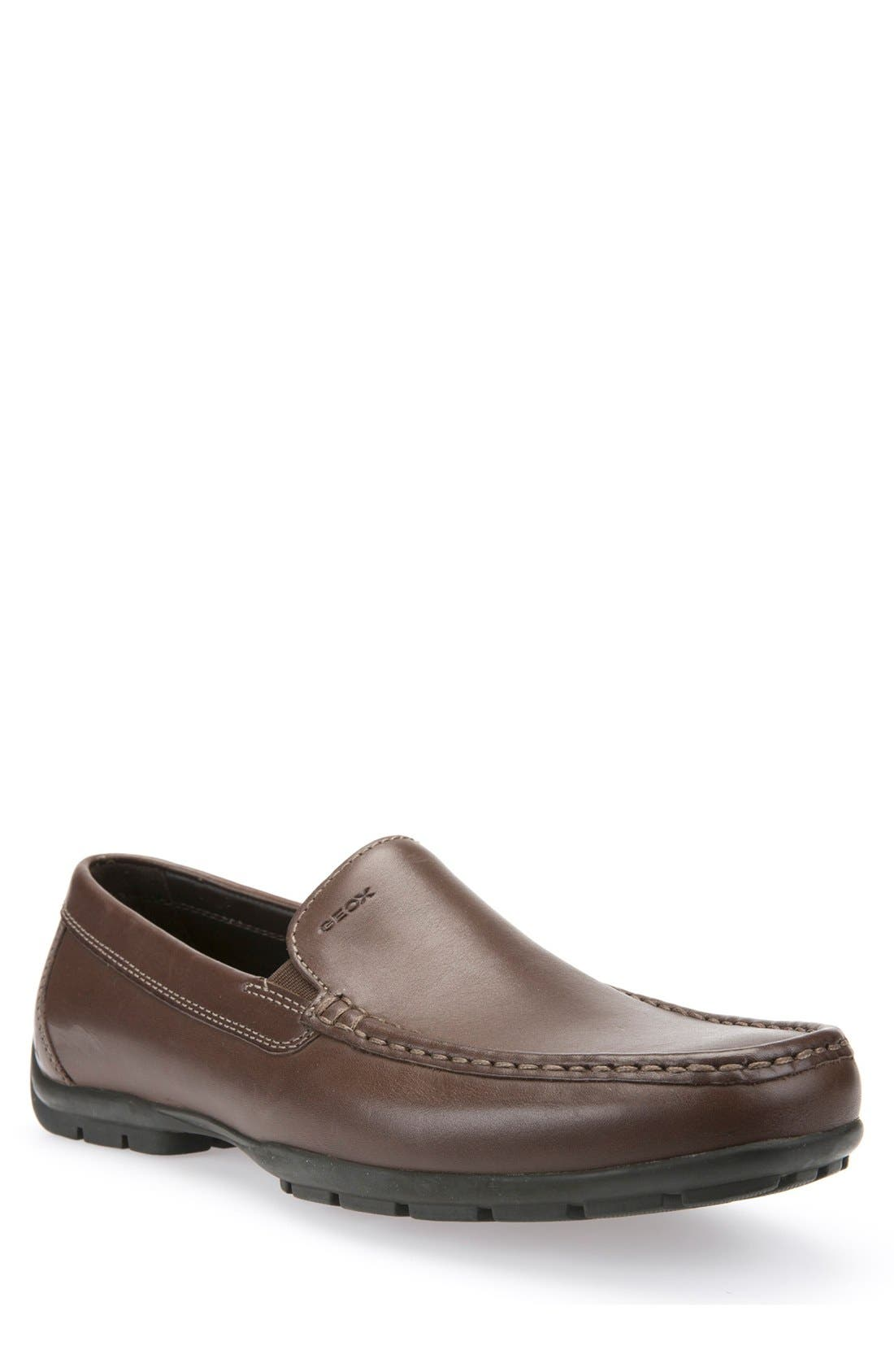 'Monet' Driving Shoe,                         Main,                         color, Light Brown Leather