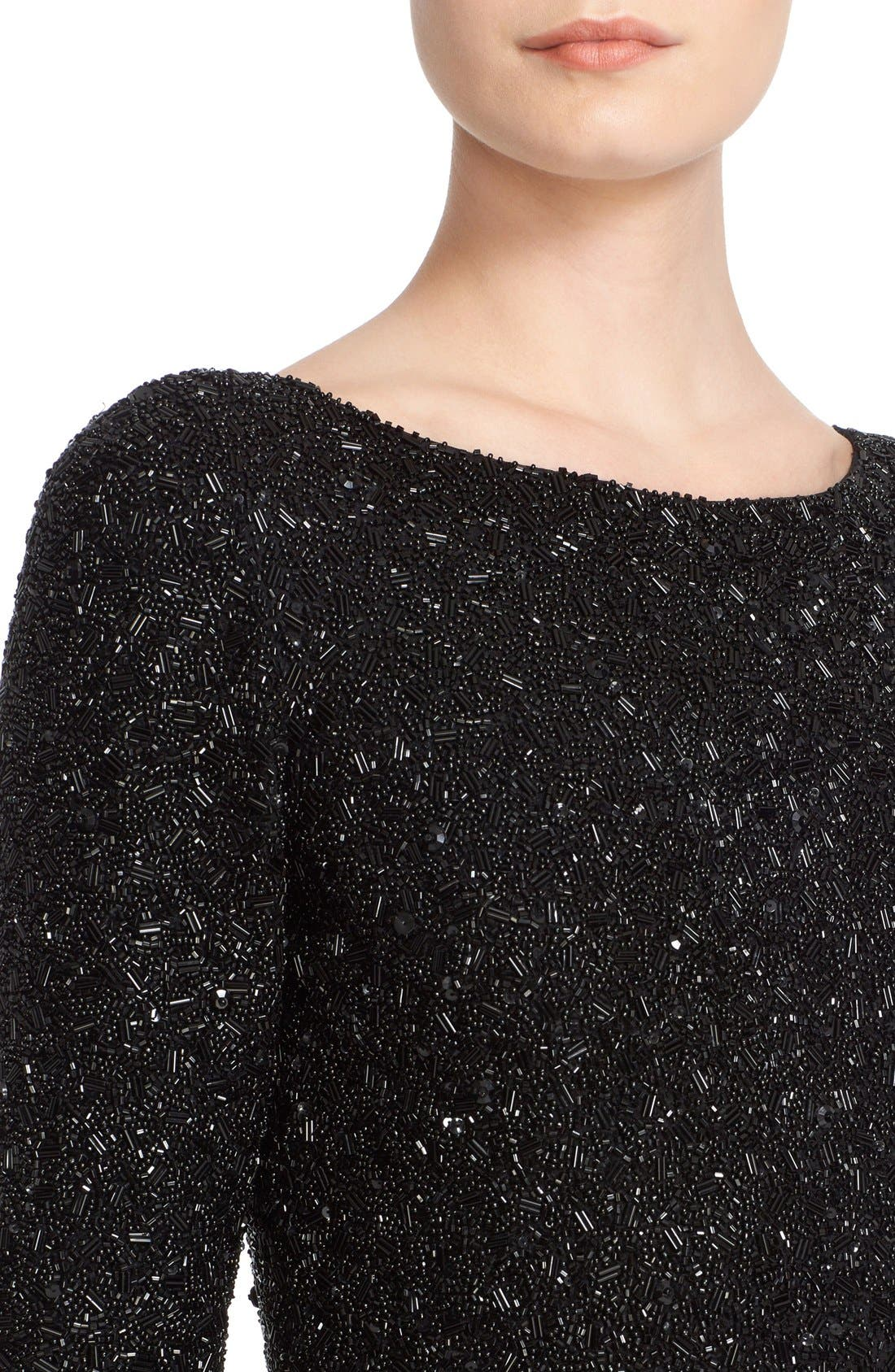 Alternate Image 5  - Badgley Mischka Couture Embellished Bodice Long Sleeve Gown