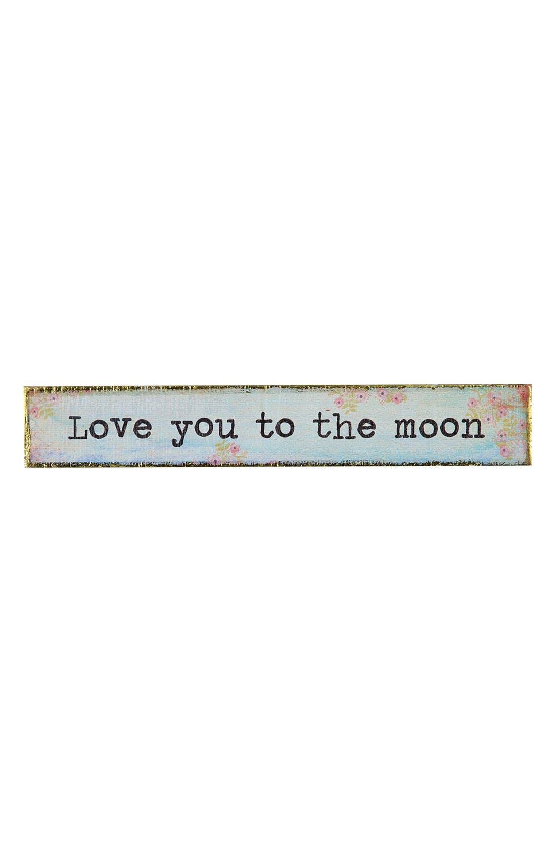 Main Image - Natural Life 'Love You to the Moon' Wood Wall Art