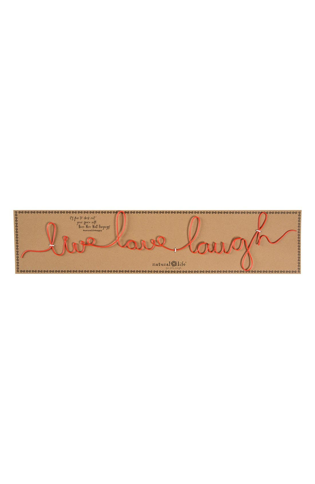 Alternate Image 2  - Natural Life 'Live Love Laugh' Wire Wall Art
