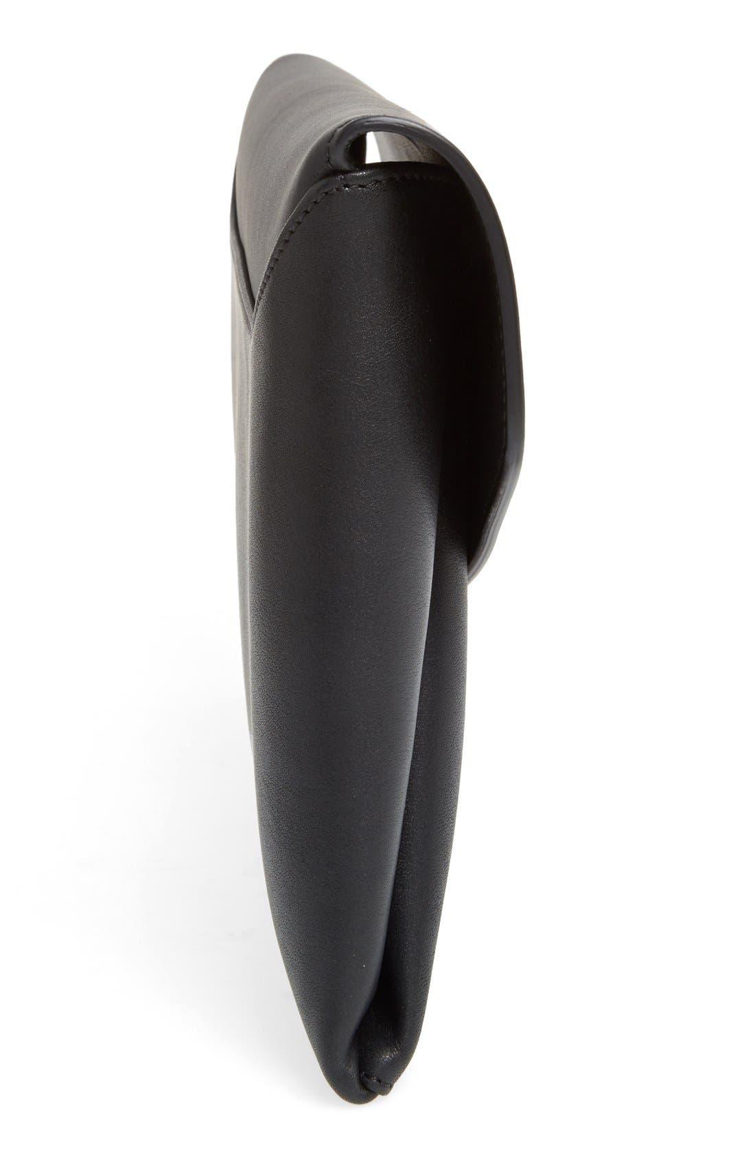 'Medium Antigona' Leather Envelope Clutch,                             Alternate thumbnail 4, color,                             Black