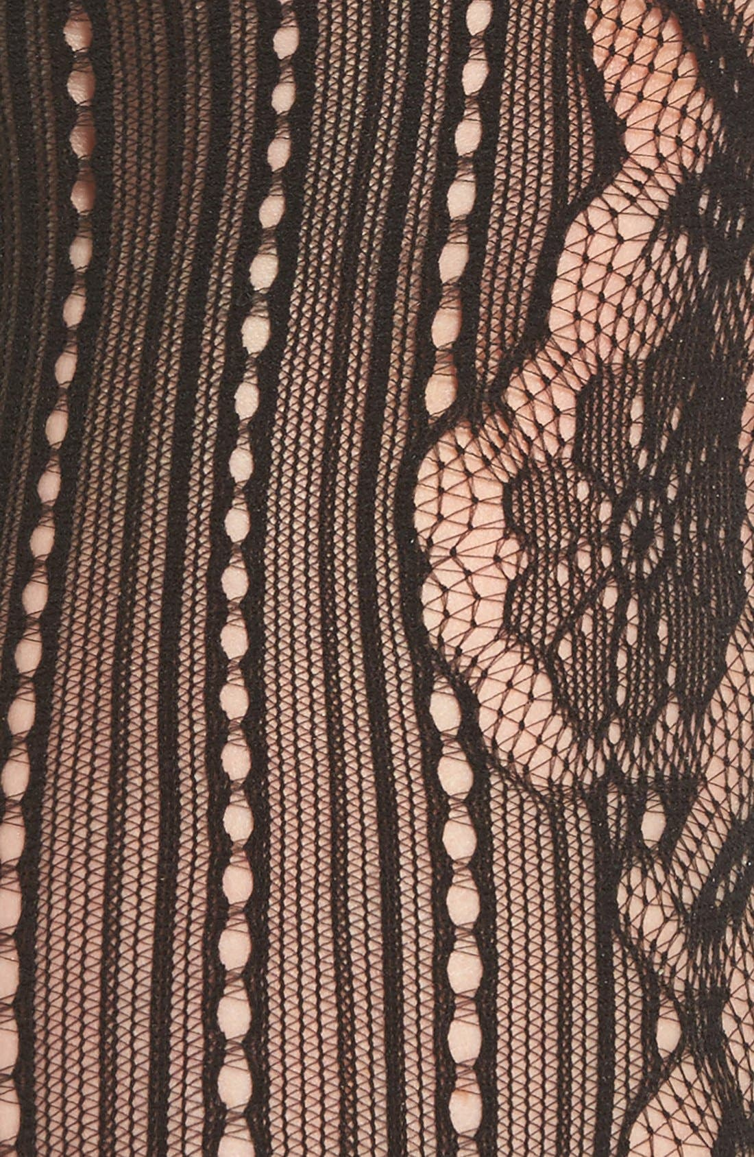 Alternate Image 3  - Commando 'Runway' Floral Net Tights