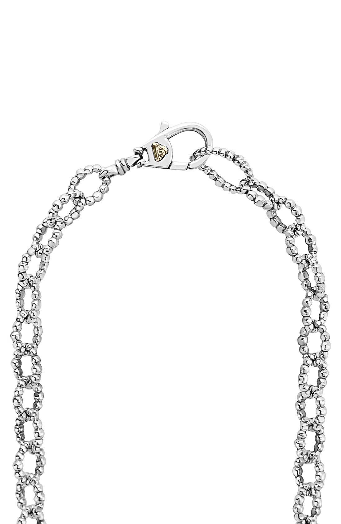 'Caviar Icon' Multistrand Necklace,                             Alternate thumbnail 3, color,                             Silver/ Gold